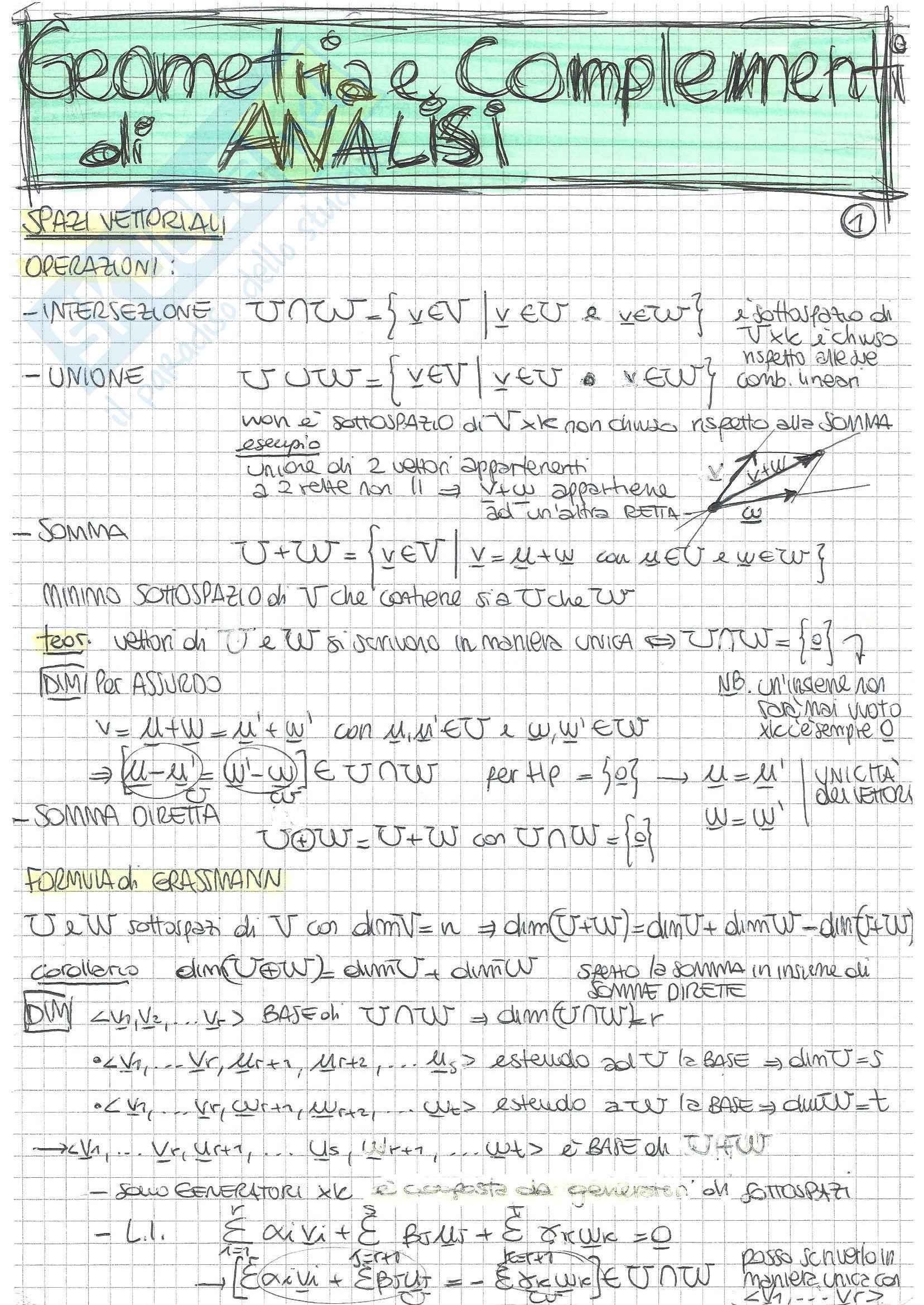 Analisi Matematica 2 e Complementi di Algebra Lineare - Teoria B