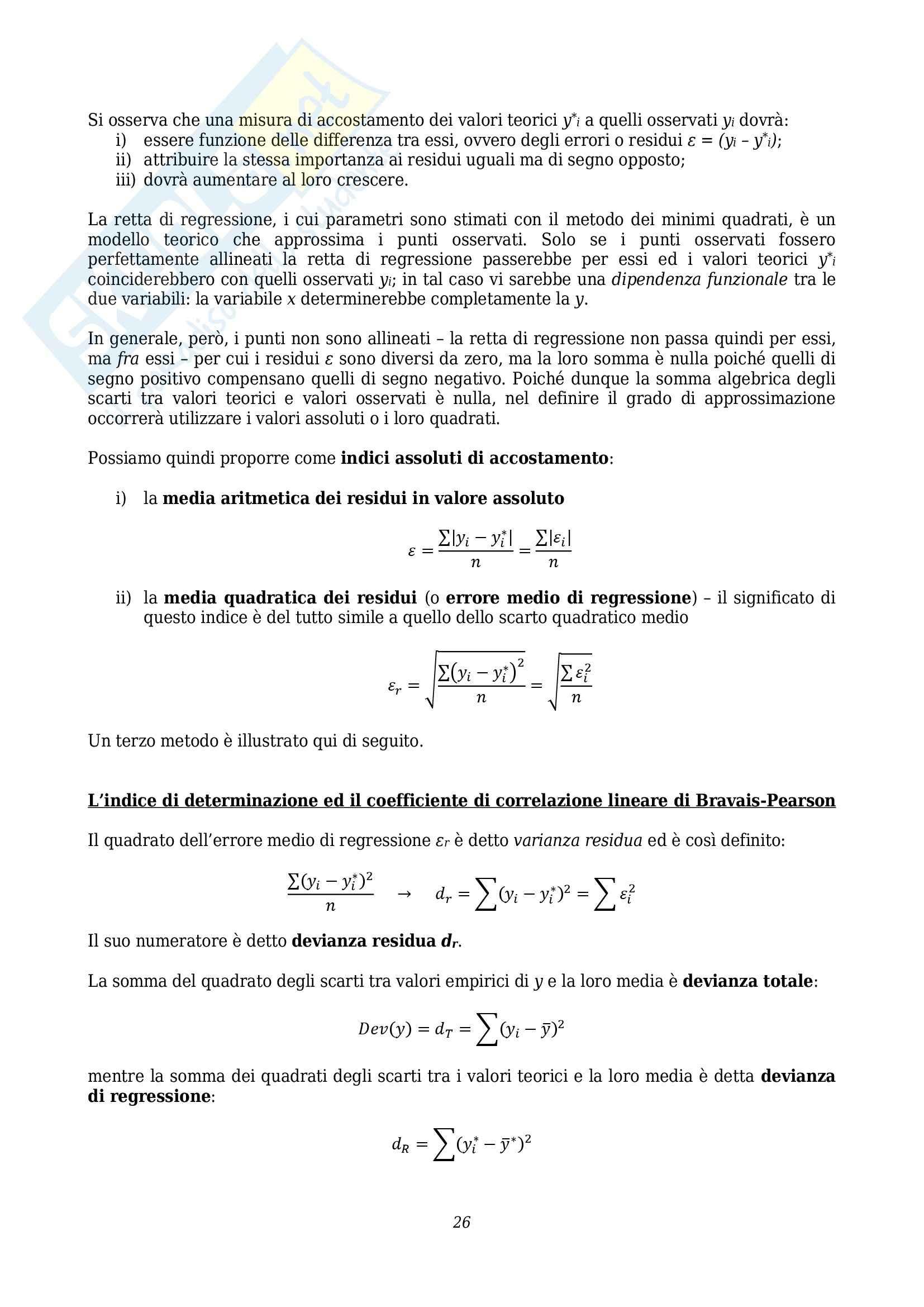 Lezioni, Statistica Pag. 26