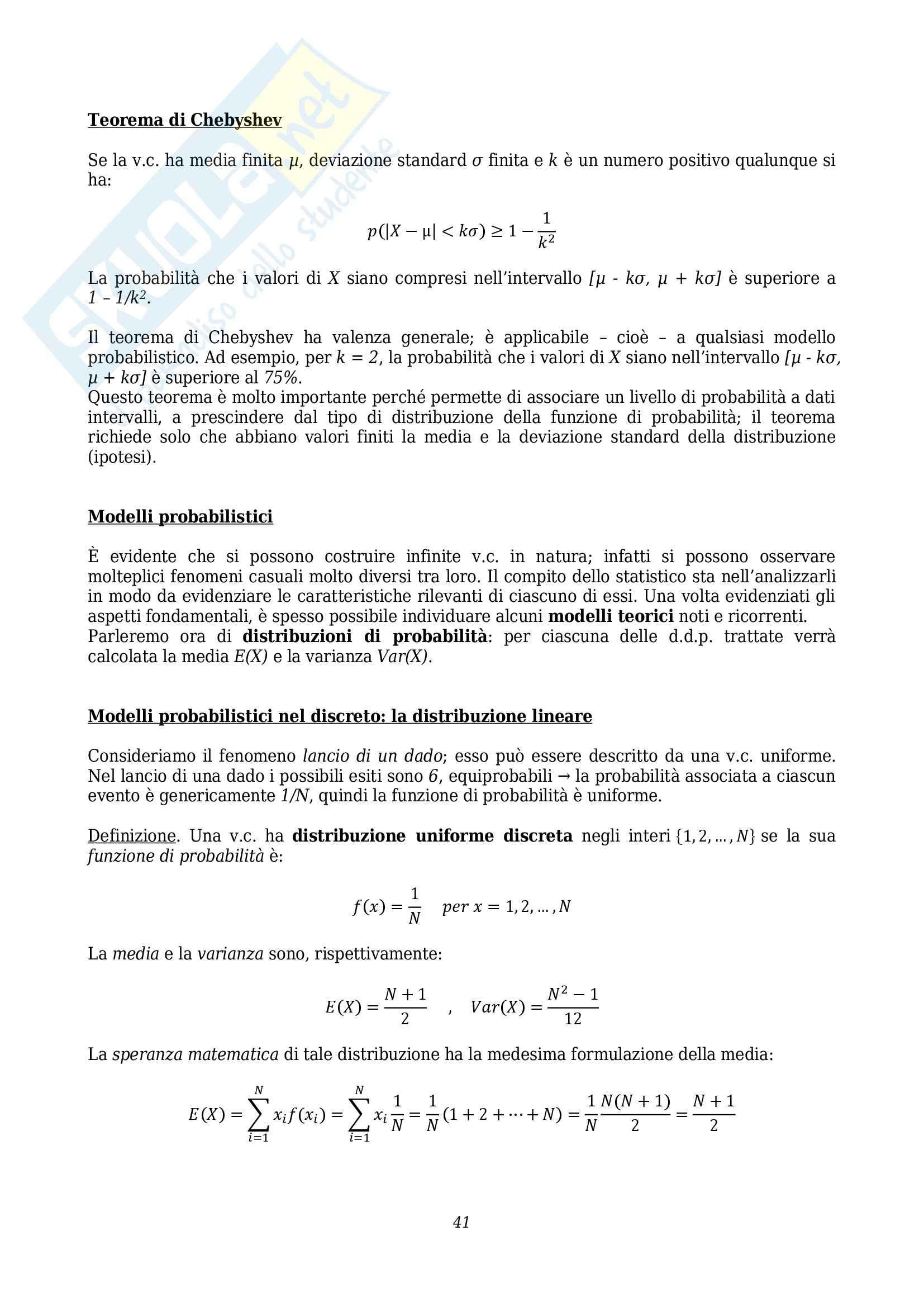 Lezioni, Statistica Pag. 41
