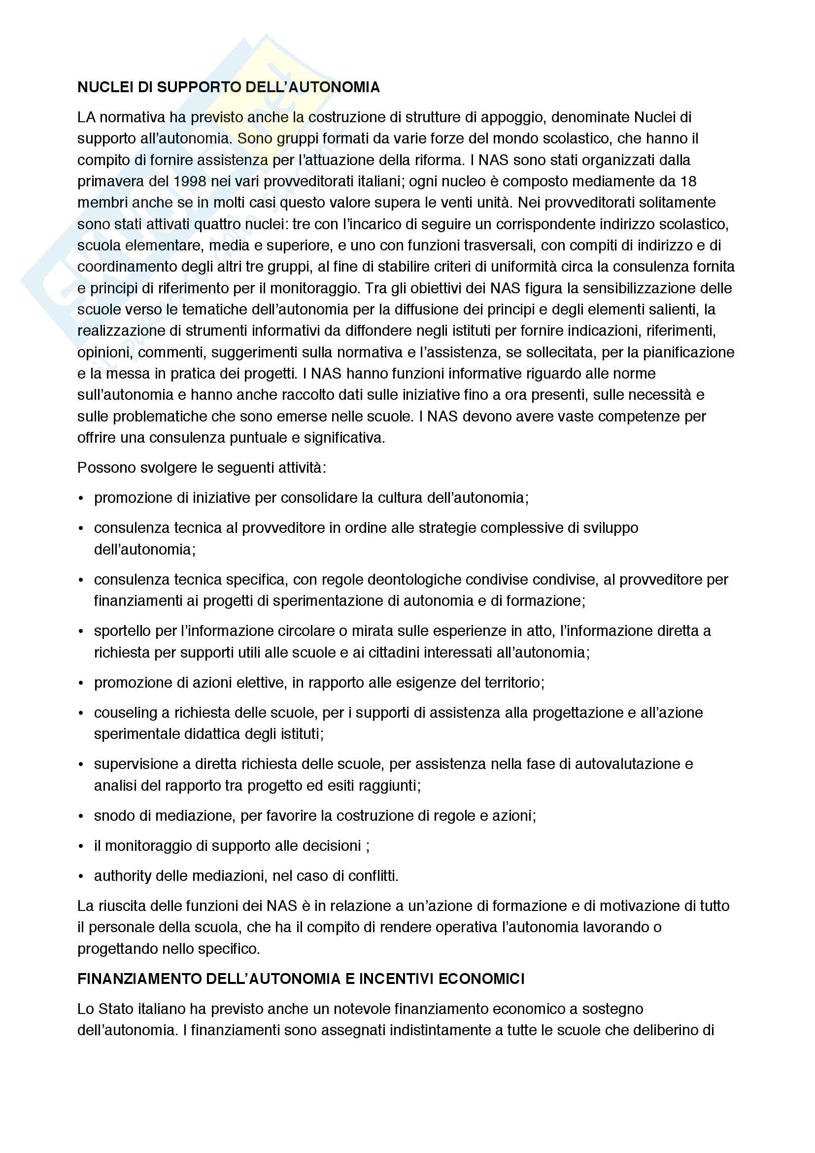 Autonomia scolastica e ricerca educativa, Pedagogia Pag. 16