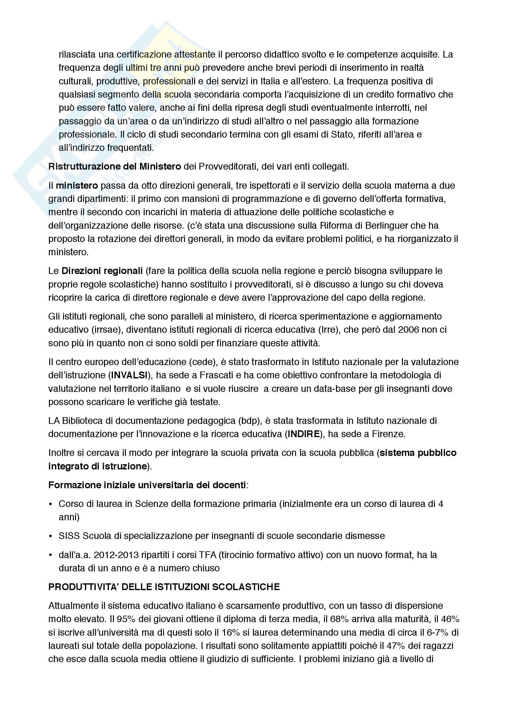 Autonomia scolastica e ricerca educativa, Pedagogia Pag. 6