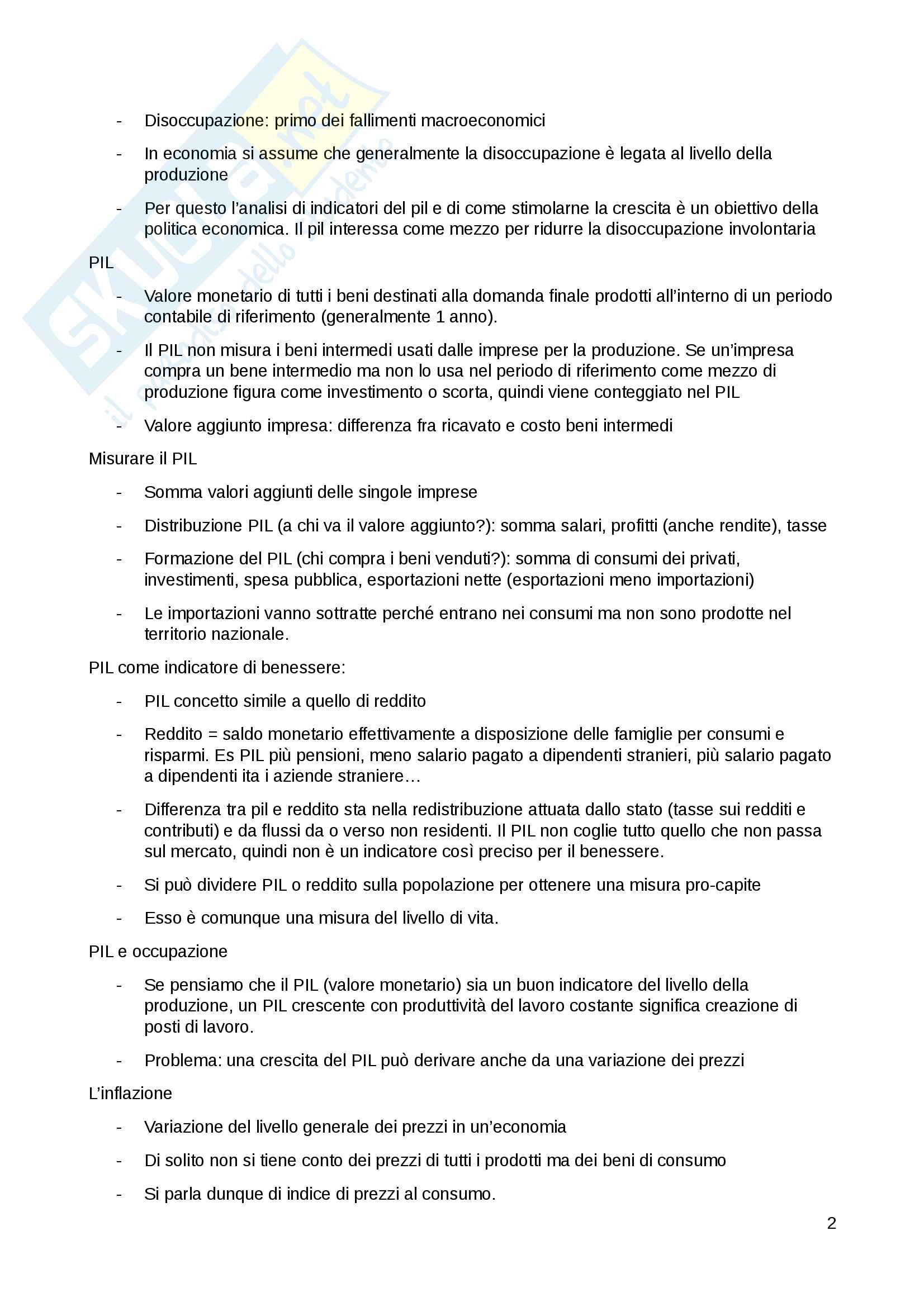 Appunti esercitazioni politica economica internazionale Pag. 2