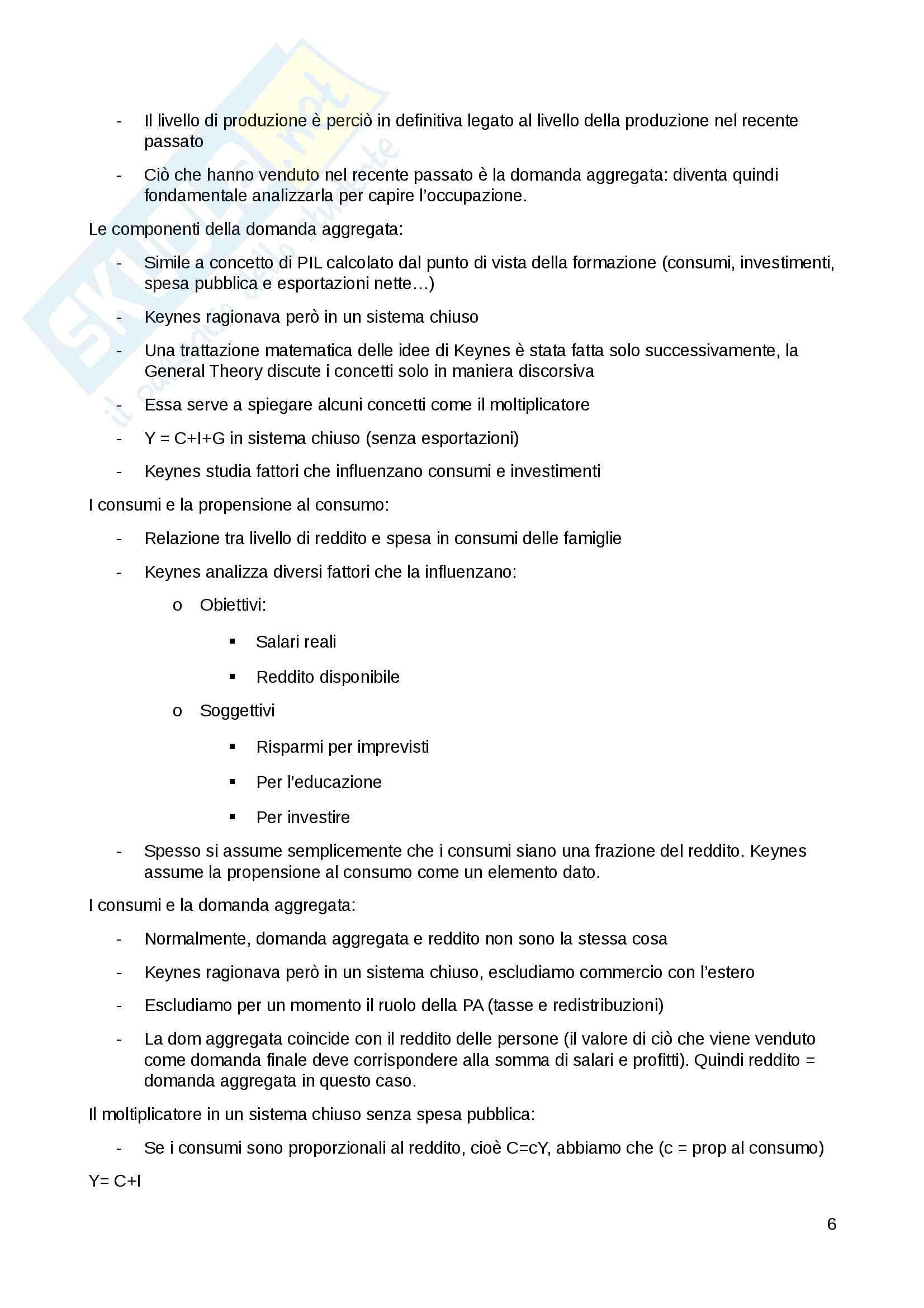 Appunti esercitazioni politica economica internazionale Pag. 6