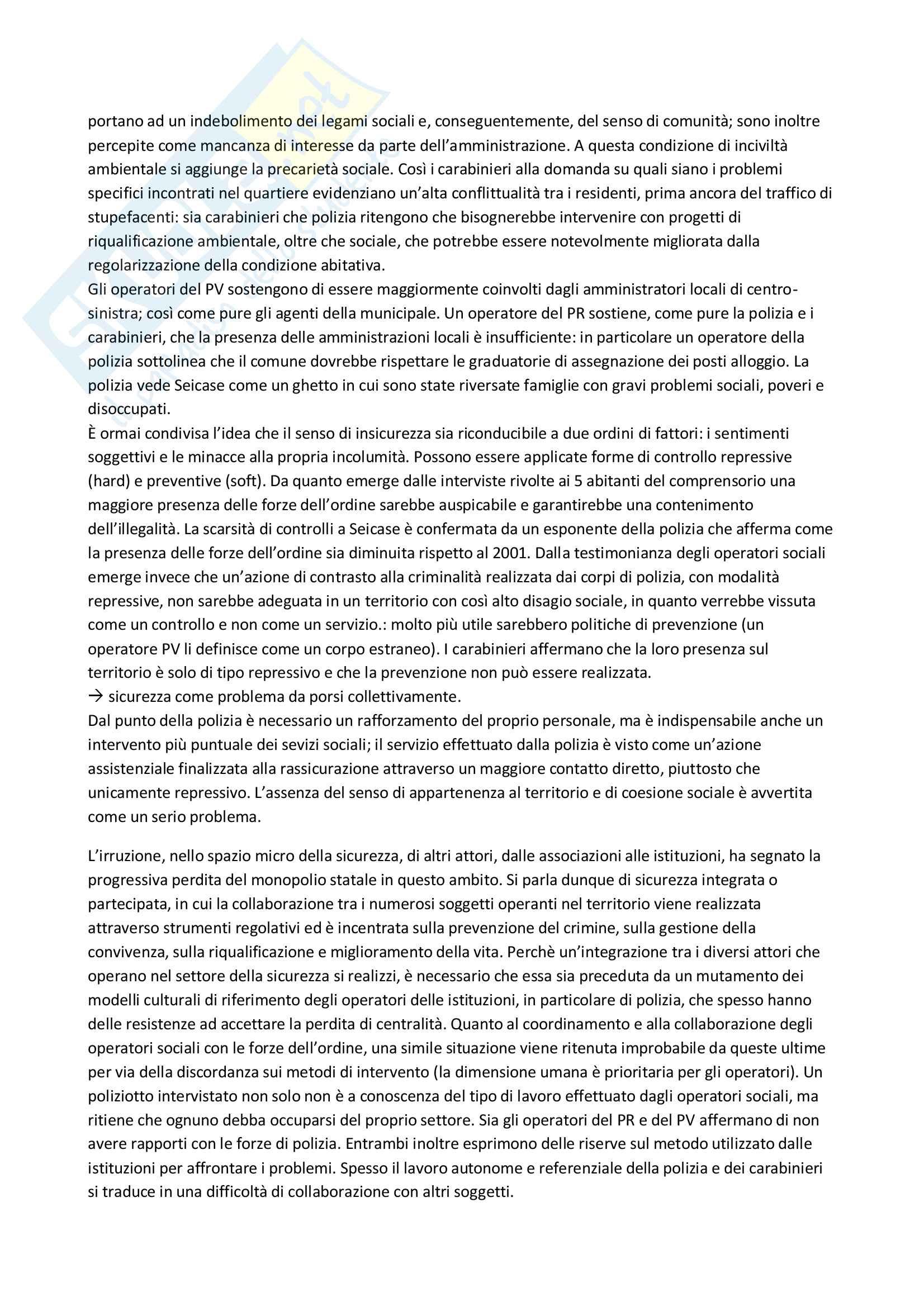 """Riassunto esame Sociologia Corso Avanzato, prof. Battistelli, libro consigliato """"La fabbrica della sicurezza"""" F. Battistelli Pag. 6"""