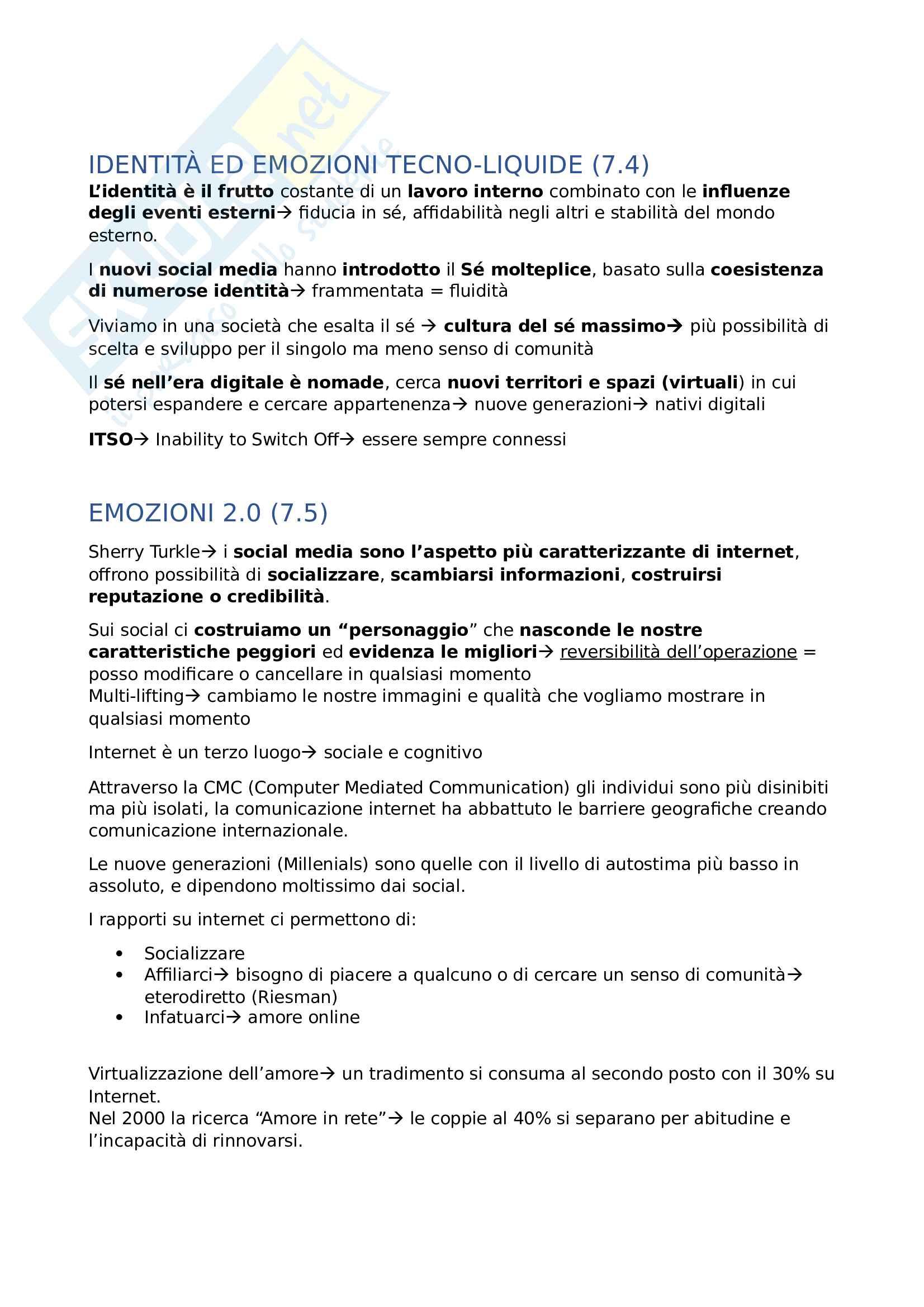 Sociologia del cambiamento nell' era digitale- 1° Parziale Pag. 26