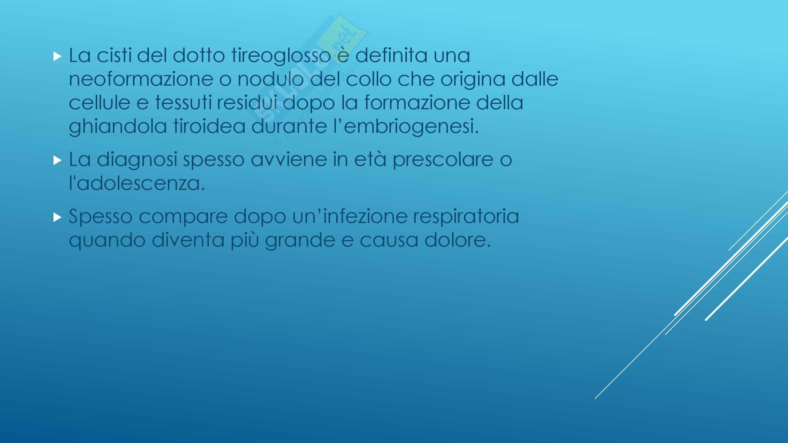 Endocrinologia - Cisti del dotto tireoglosso Pag. 2