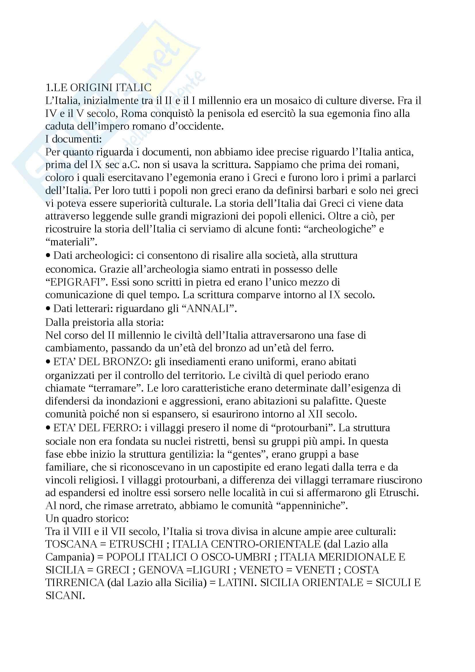 Riassunto esame Storia romana, libro adottato Guida alla storia romana, Clemente