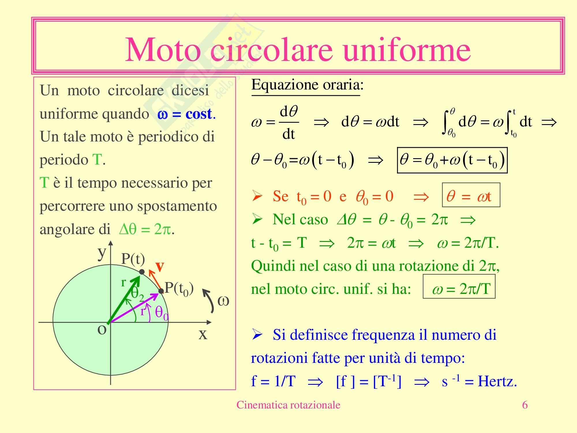 Fisica Medica - Cinematica Rotazionale Pag. 6