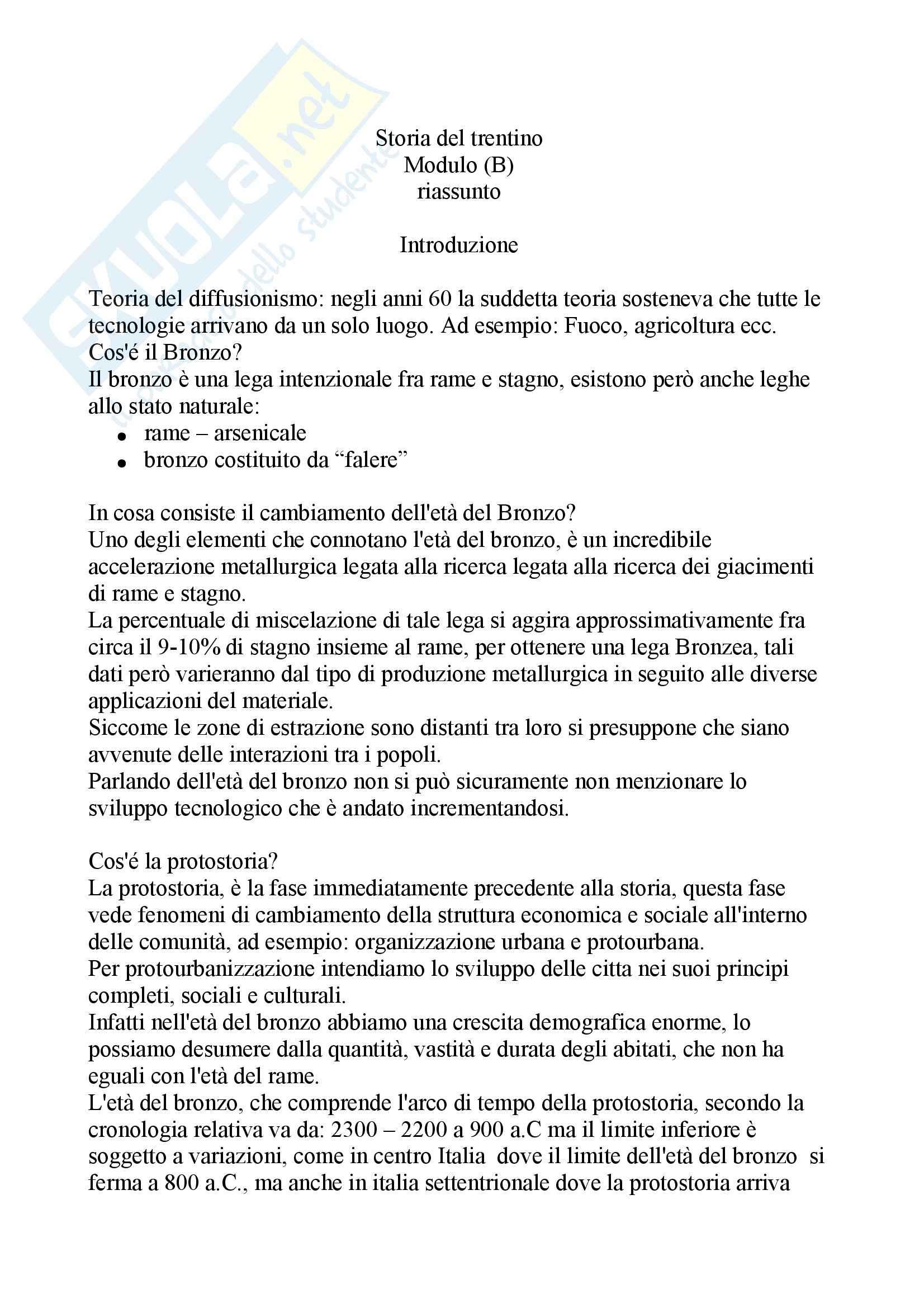 Paletnologia - la storia del Trentino