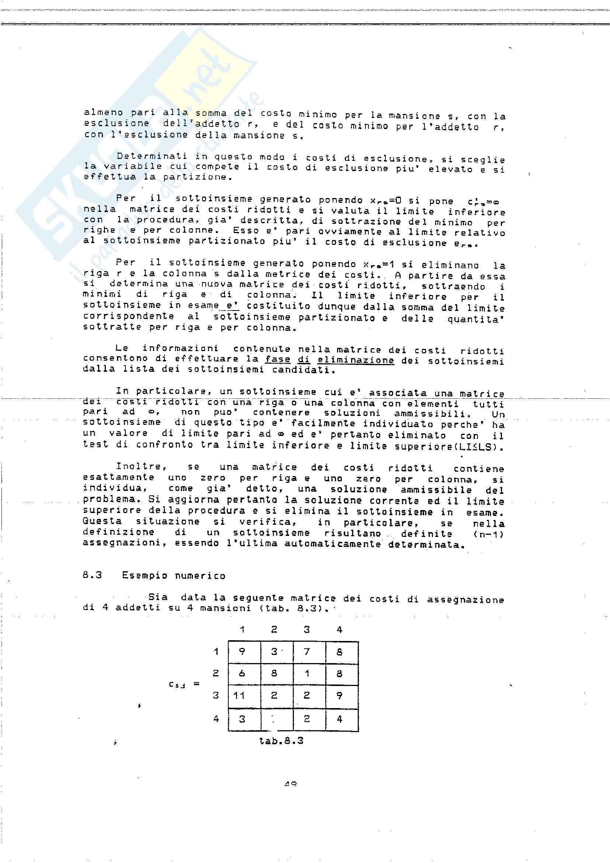 Ricerca Operativa – Programmazione discreta Pag. 51