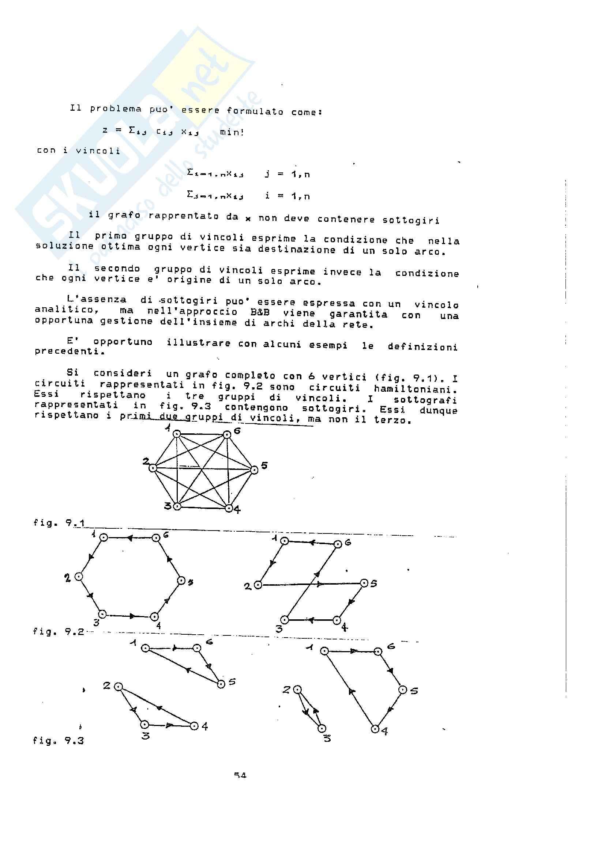 Ricerca Operativa – Programmazione discreta Pag. 56