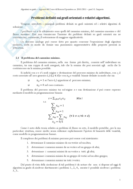 Ricerca Operativa – Programmazione discreta Pag. 86