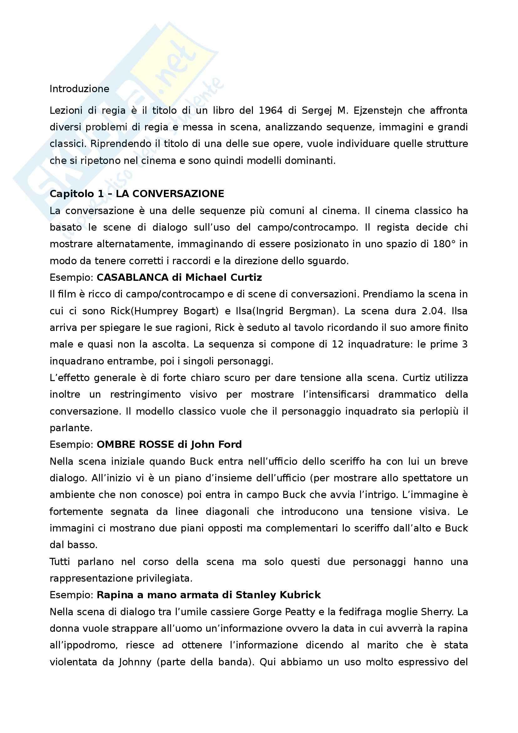 Riassunto esame Teorie del Cinema e dell'Audiovisivo, prof. Vitiello, libro consigliato Lezioni di Regia, Tomasi