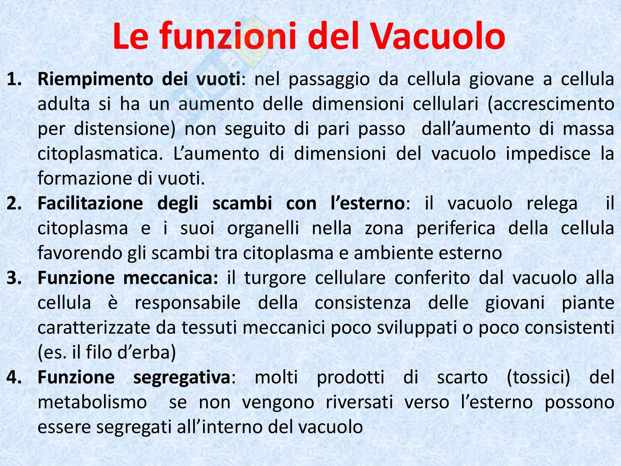 Biologia vegetale - il vacuolo Pag. 6