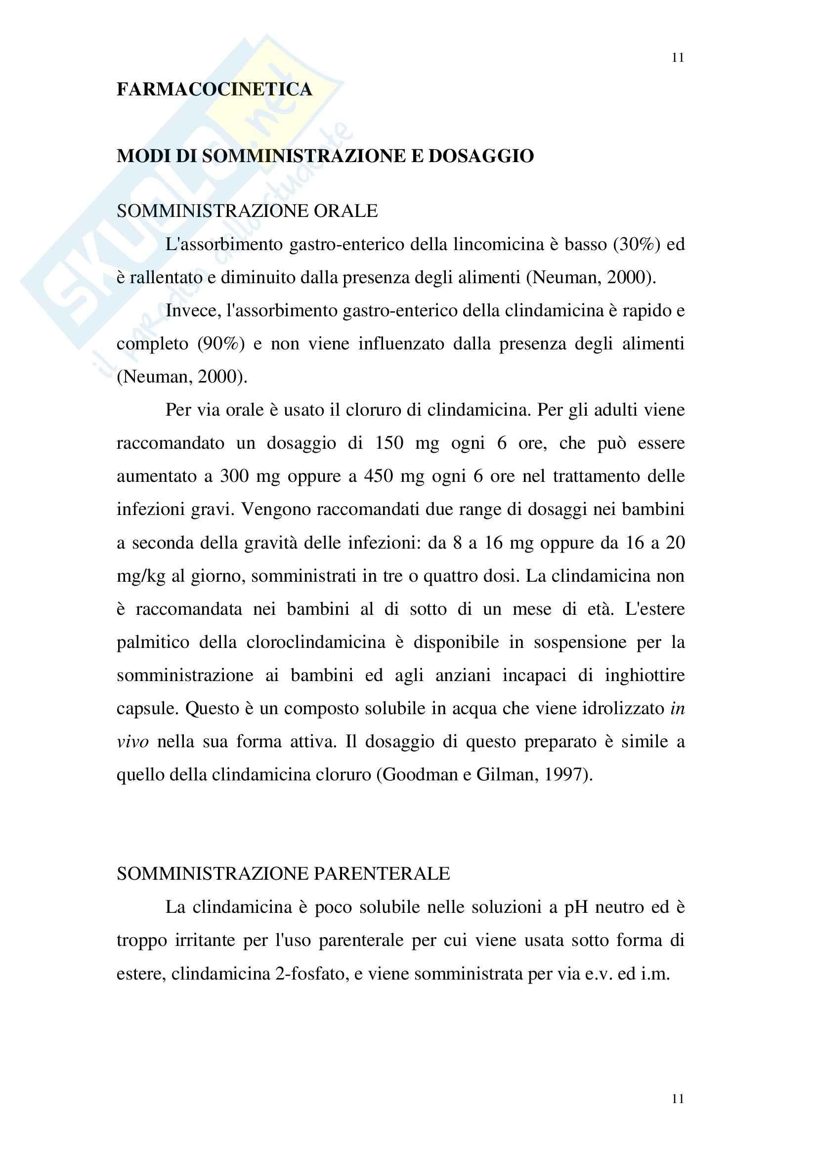 Chimica farmaceutica - lincosamidi Pag. 11