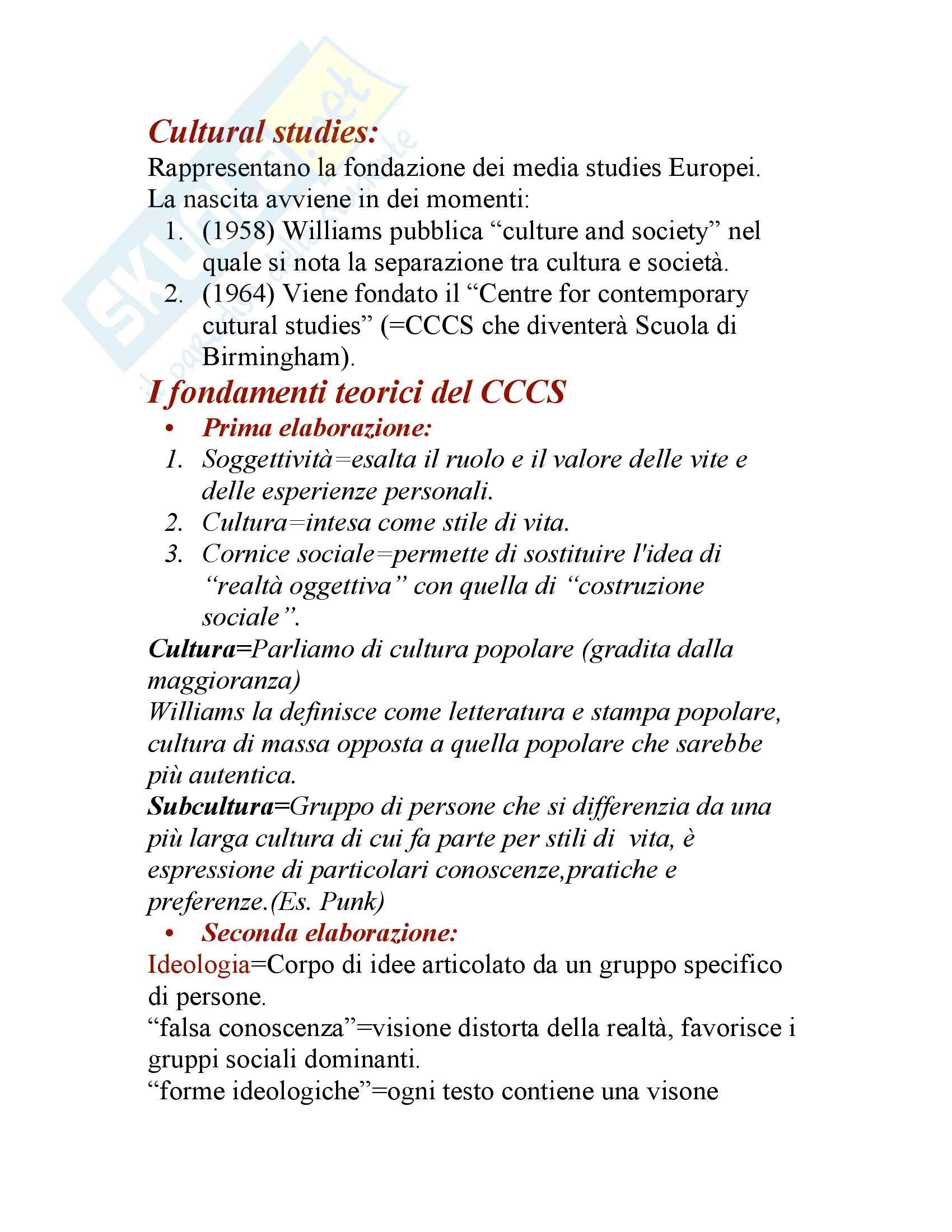 Teorie comunicazione di massa Pag. 11