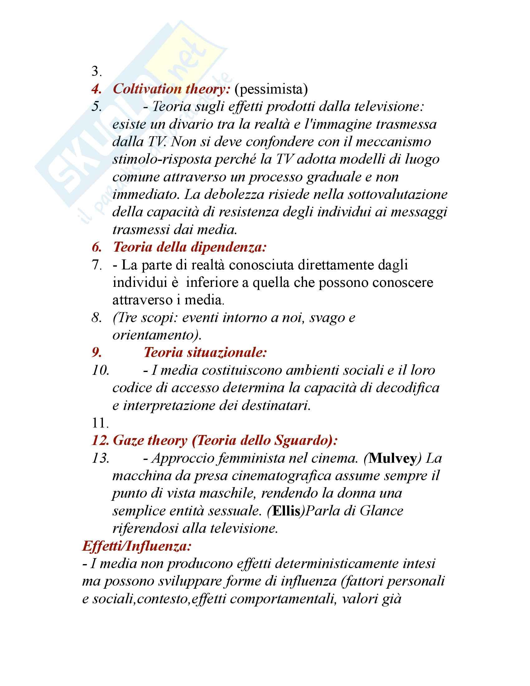 Teorie comunicazione di massa Pag. 6