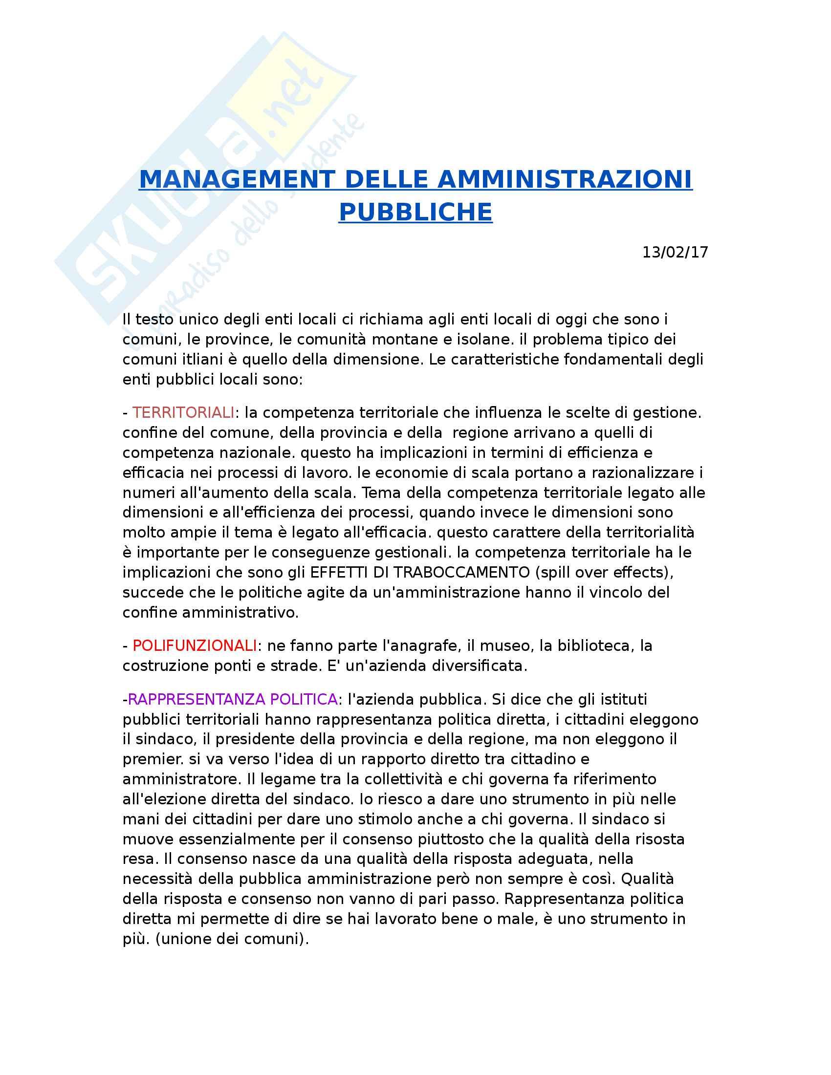 Management delle amministrazioni pubbliche