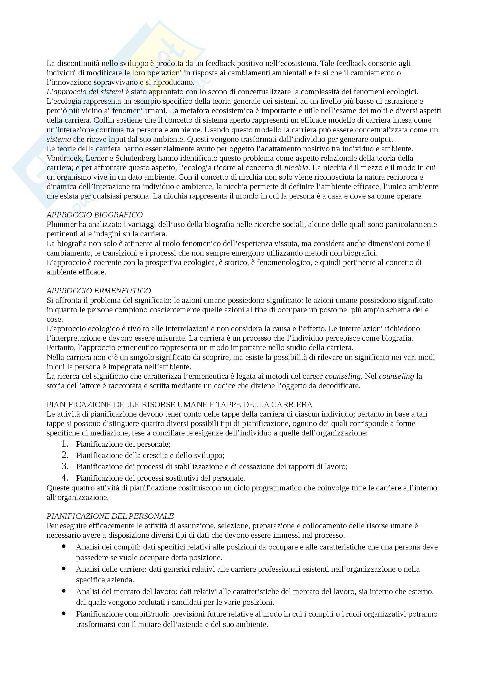 Sunto Psicologia del lavoro e delle organizzazioni, docente Maeran, libro consigliato Psicologia del mondo del lavoro, Pedon e Maeran Pag. 36