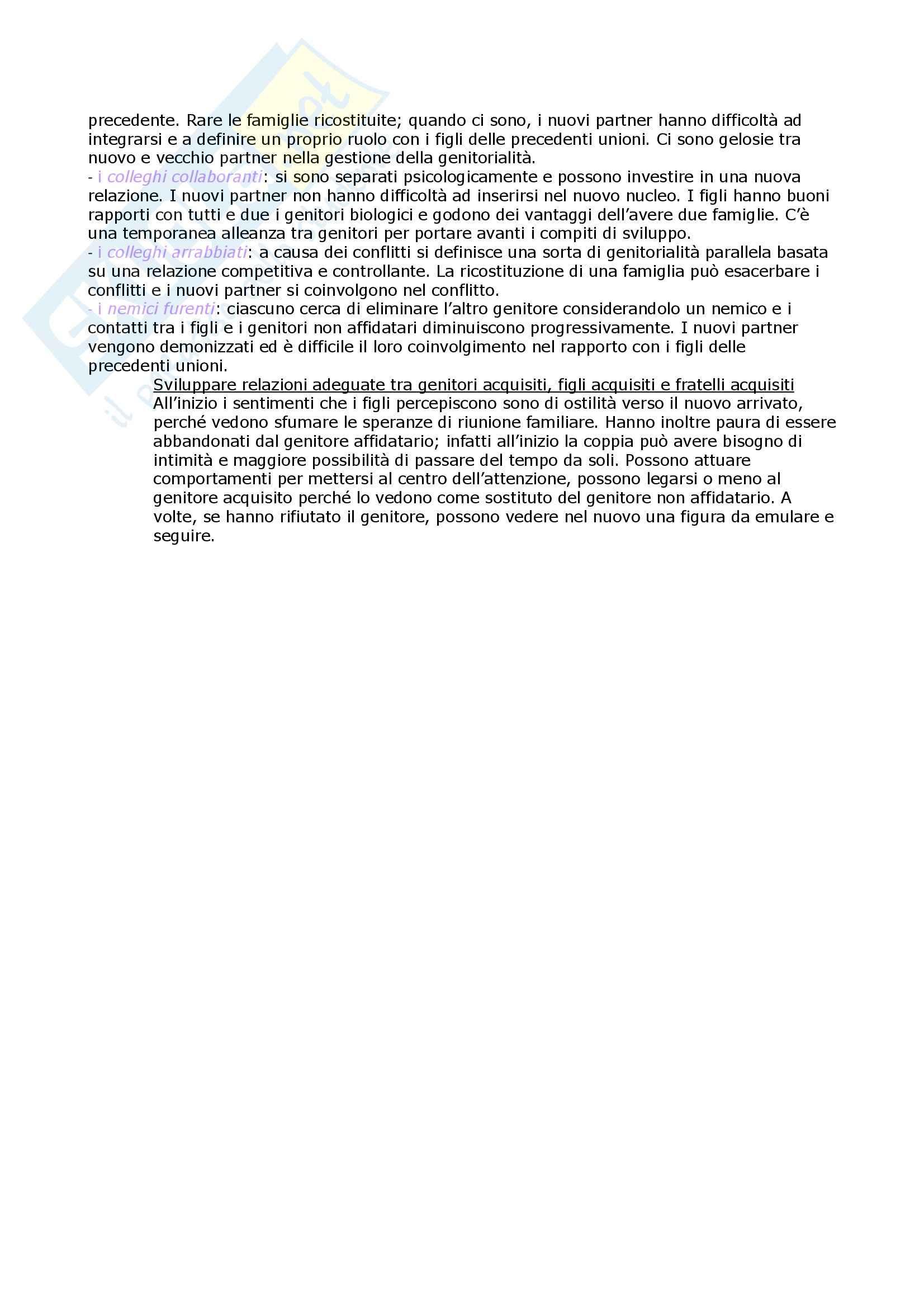 Riassunto esame Psicodinamica della Famiglia, prof. Malagoli, libro consigliato Dinamiche Relazionali e Ciclo di Vita della Famiglia, Malagoli Pag. 11