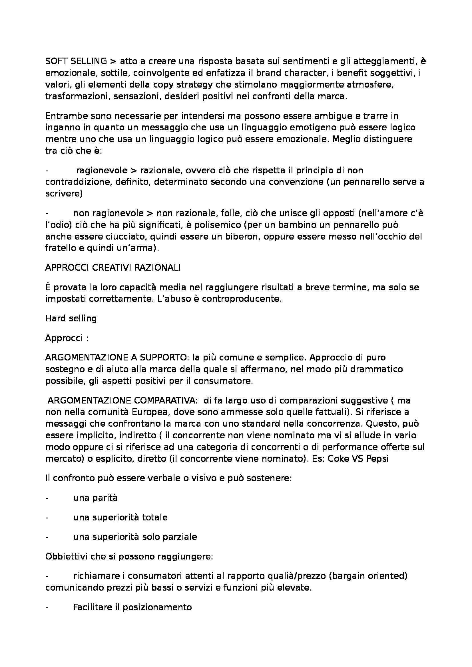 Riassunto esame Comunicazione Pubblicitaria, prof. Montieri, libro consigliato La Creatività in Pubblicità, Lombardi Pag. 6