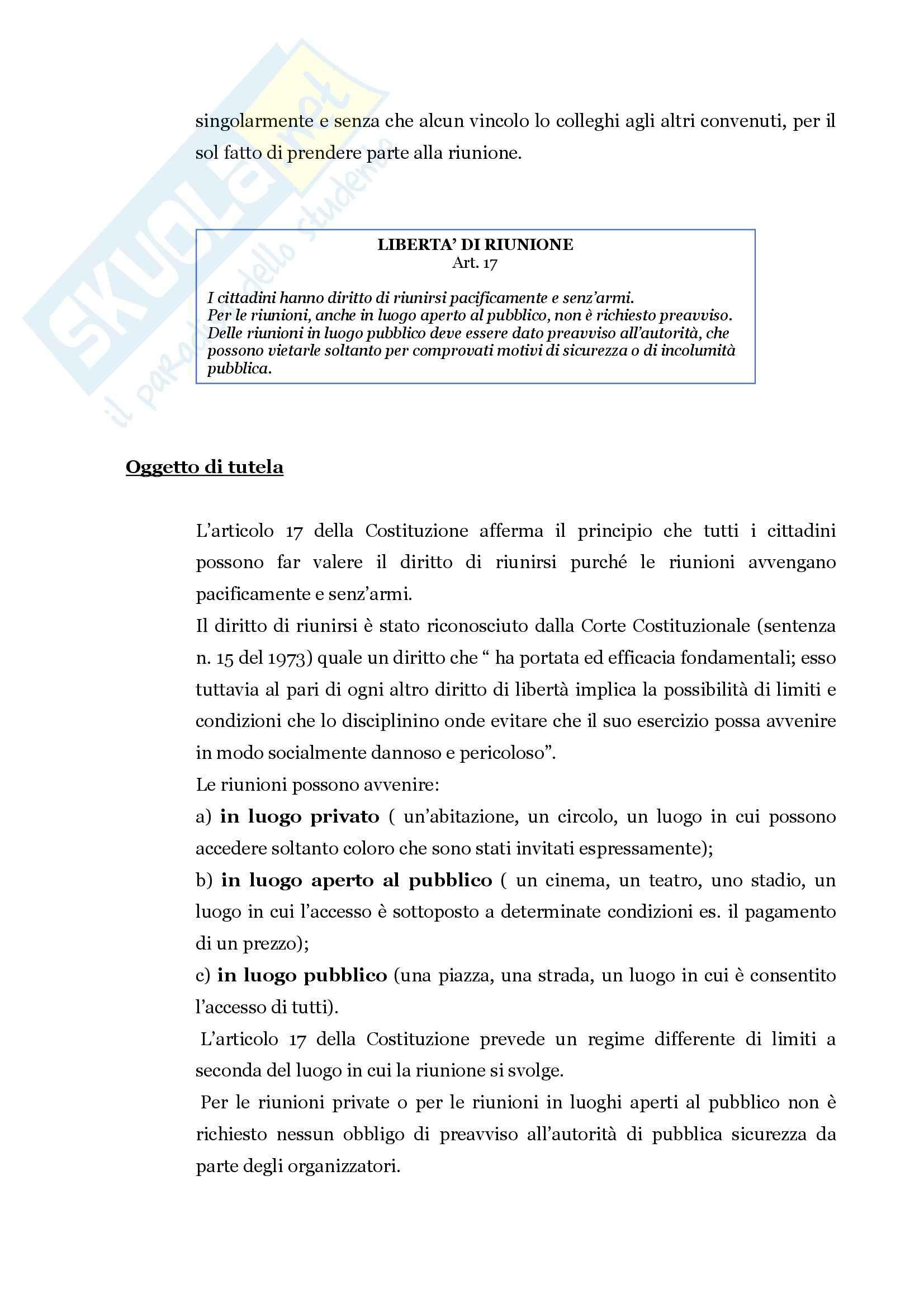 Istituzioni di Diritto pubblico - le libertà Pag. 21