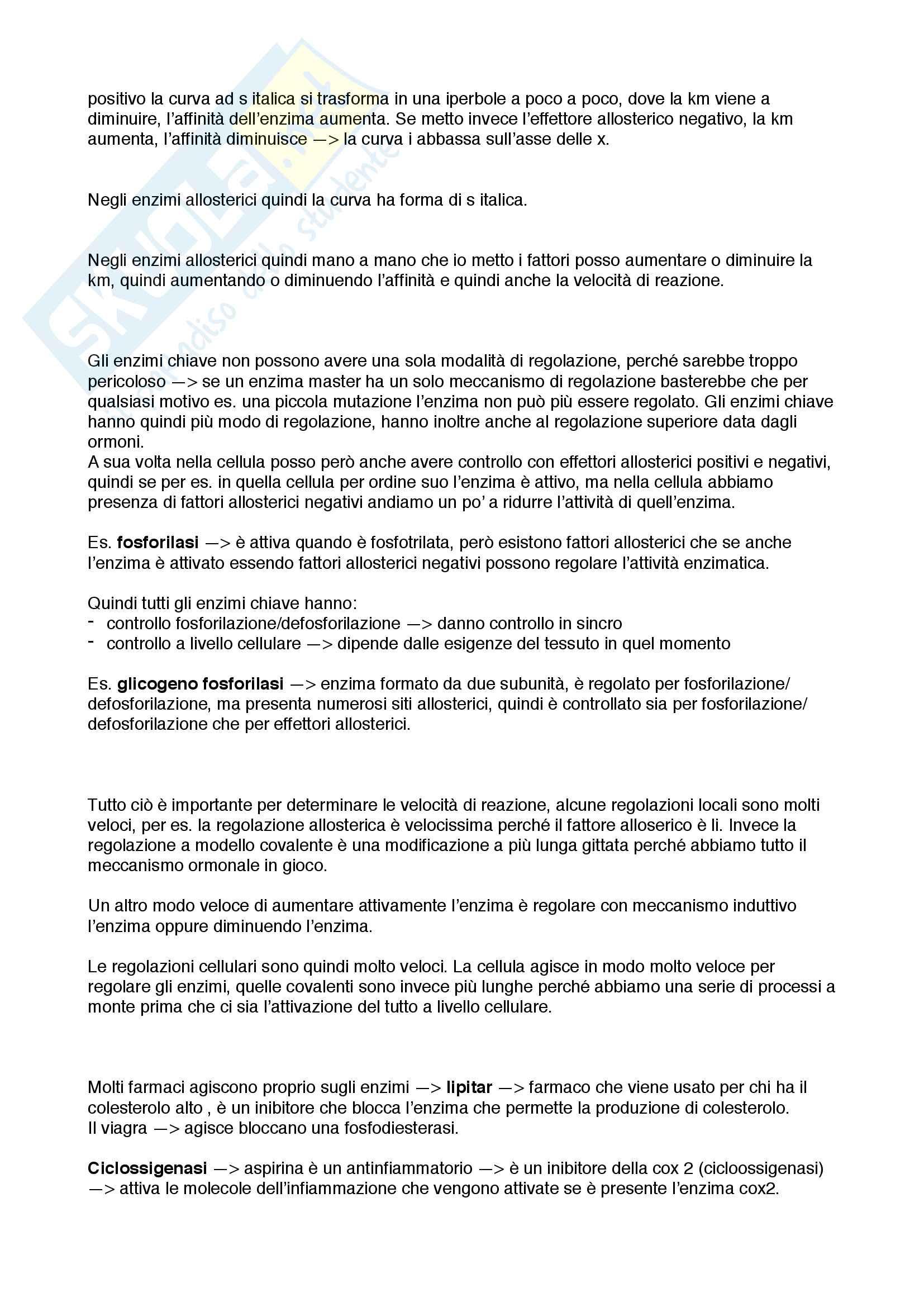 Enzimi e regolazione enzimatica Pag. 16