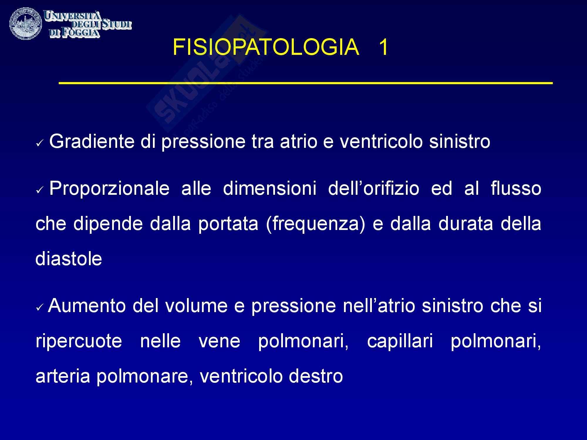 Cardiologia - la fisiopatologia della stenosi mitralica