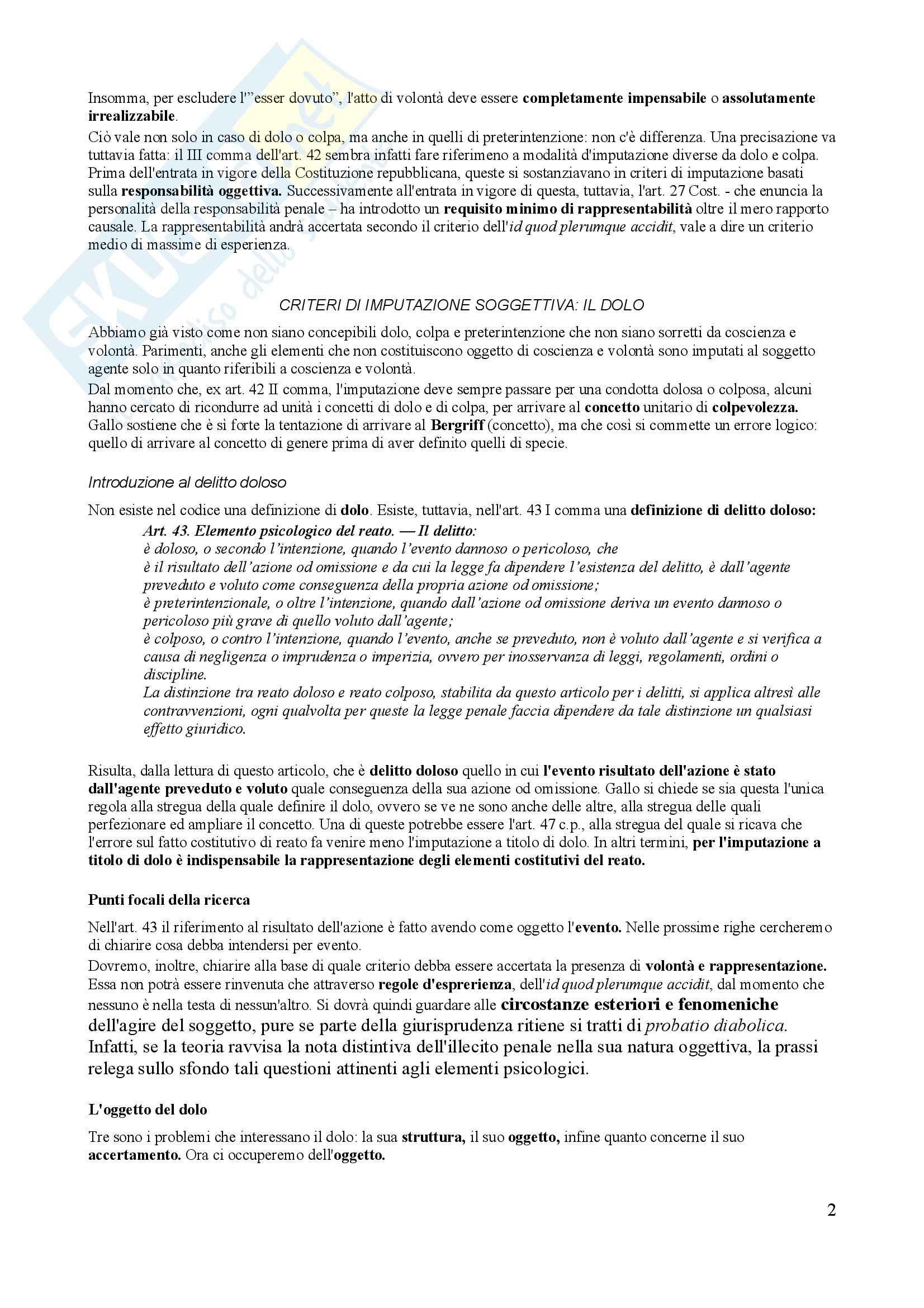 Riassunto esame Diritto Penale, prof. Trapani, libro consigliato Diritto Penale, Gallo - terza parte Pag. 2