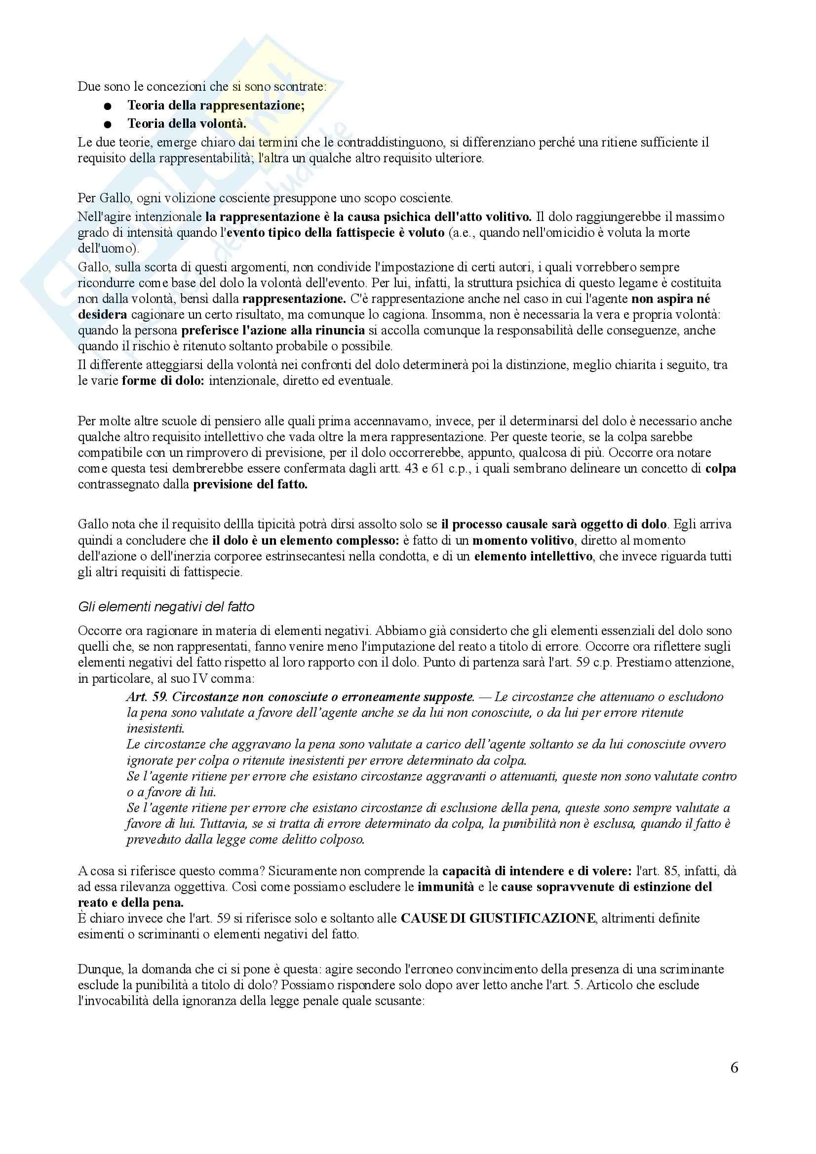 Riassunto esame Diritto Penale, prof. Trapani, libro consigliato Diritto Penale, Gallo - terza parte Pag. 6