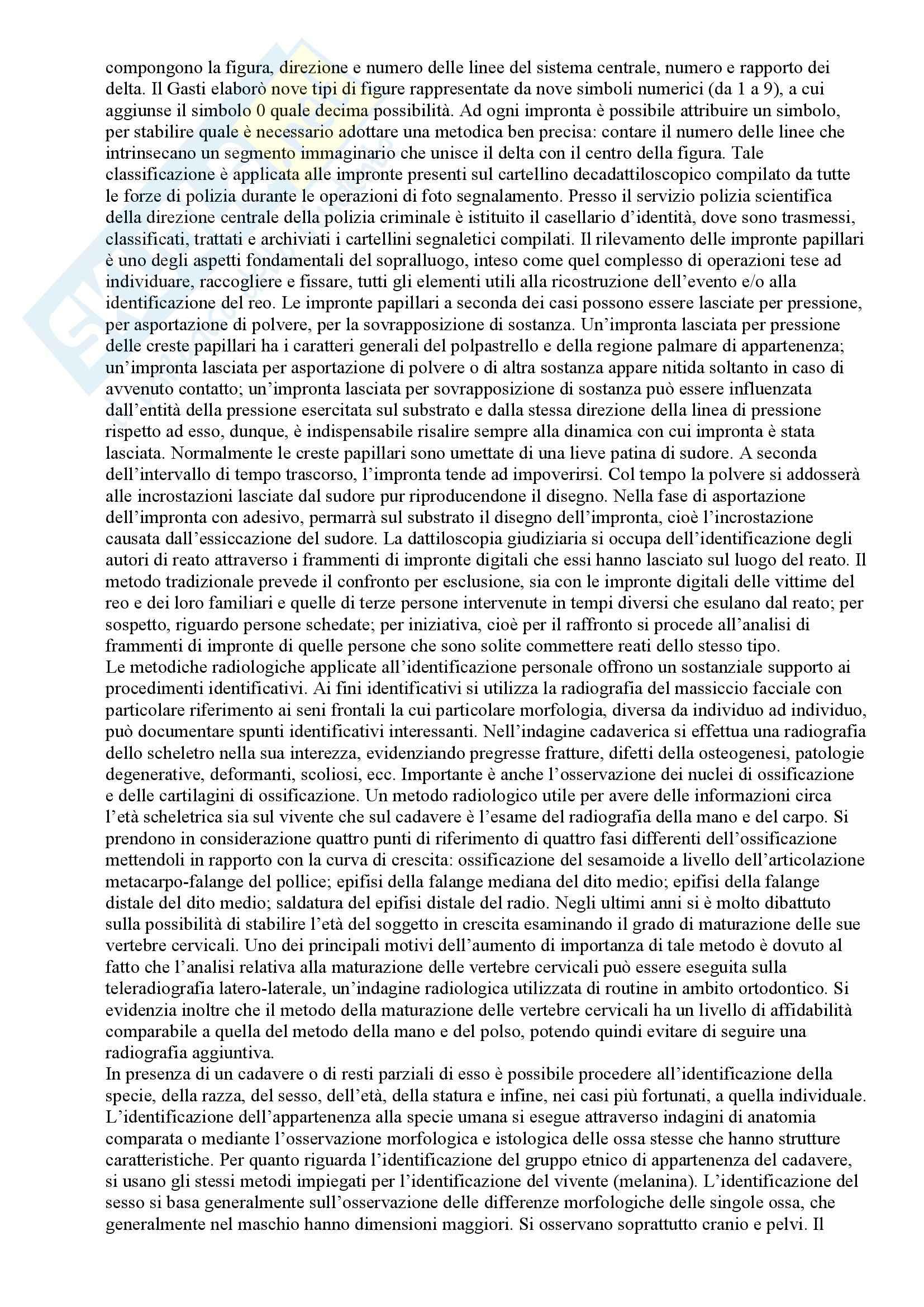 Riassunto esame Medicina legale, prof. Arcudi, libro consigliato Medicina legale, Arcudi Pag. 41