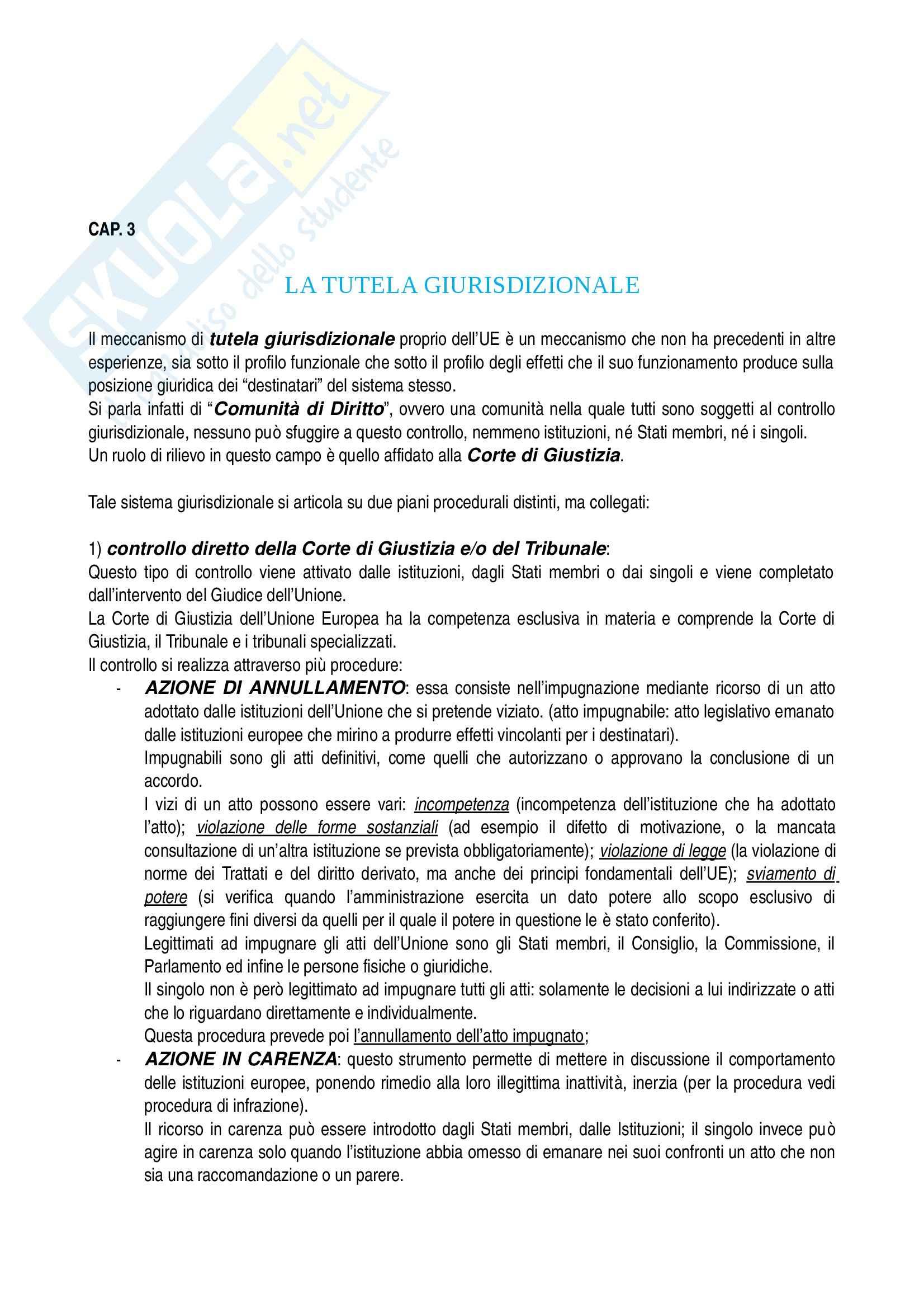 Riassunto esame Diritto dell Unione Europea, prof. Raffaelli, libro consigliato Diritto dell Unione Europea, Tesauro Pag. 21