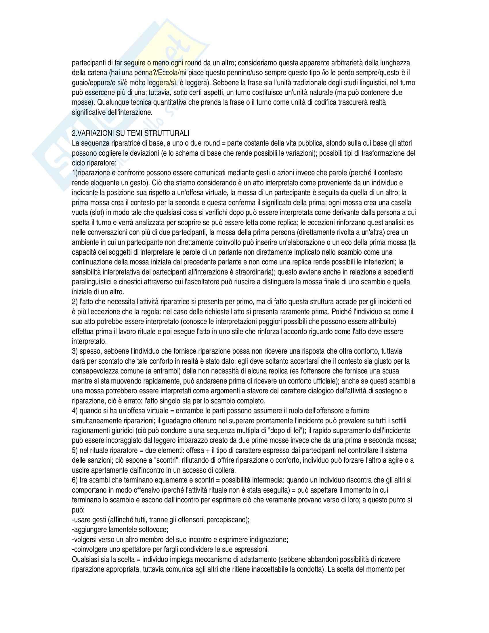Riassunto esame Analisi delle pratiche conversazionali, prof. Spagnolli, libro consigliato Linguaggio e contesto sociale, Giglioli, Fele Pag. 6