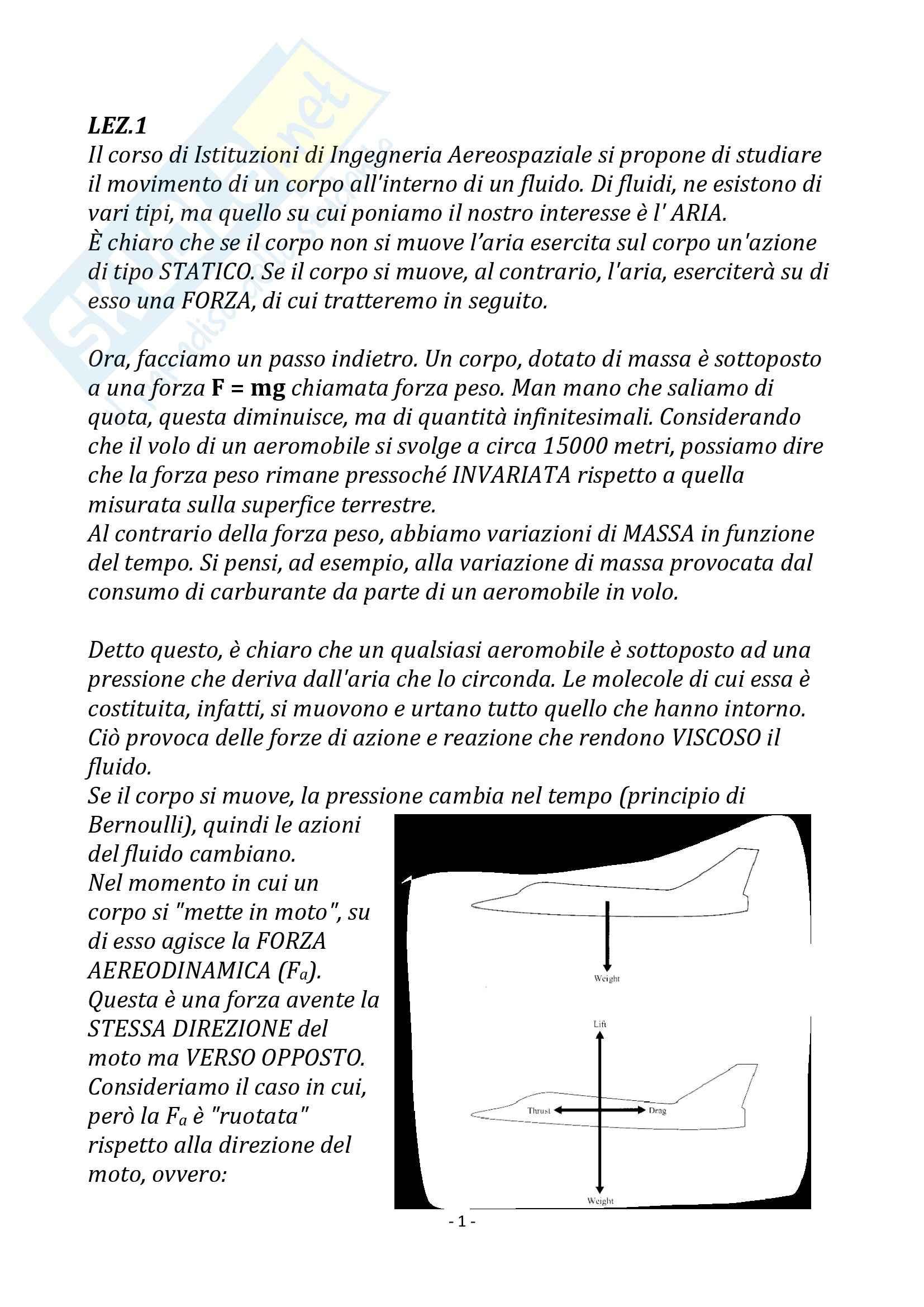 Istituzioni di ingegneria spaziale - Appunti