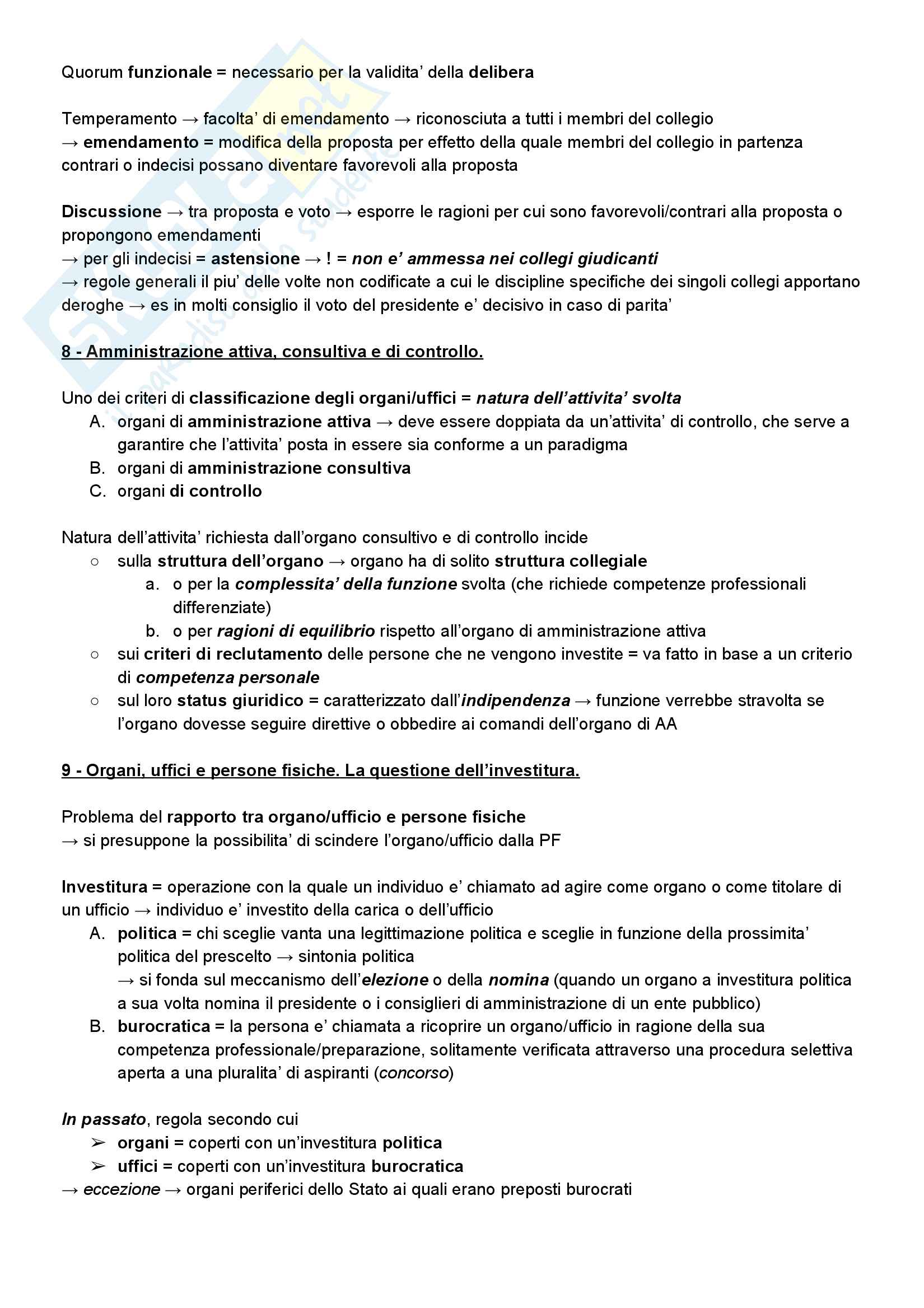 Riassunto esame diritto amministrativo, prof. Barbara Marchetti (UniTn), libro consigliato Manuale di Diritto Amministrativo, Guido Corso, ultima edizione, AA. 2016/2017 Pag. 6