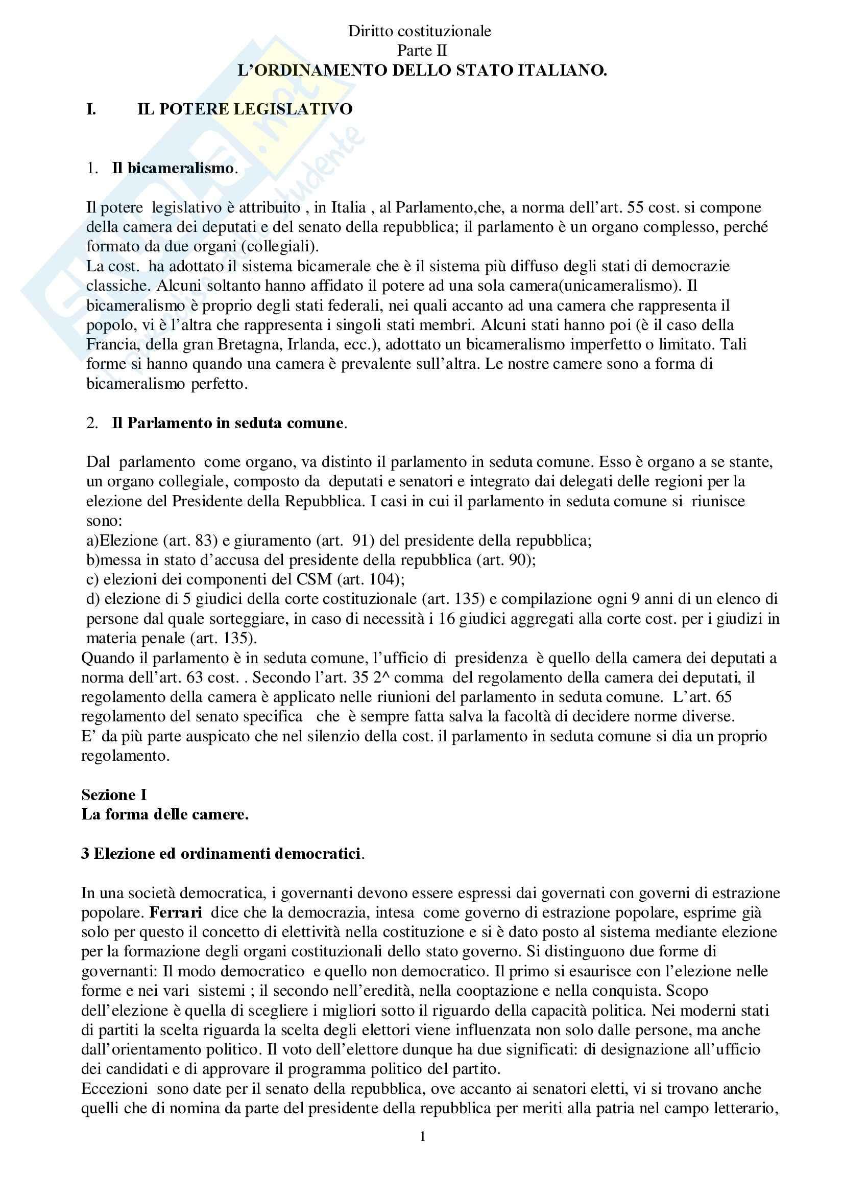 Riassunto esame Diritto Costituzionale, prof. indefinito, libro consigliato Diritto Costituzionale, Martines
