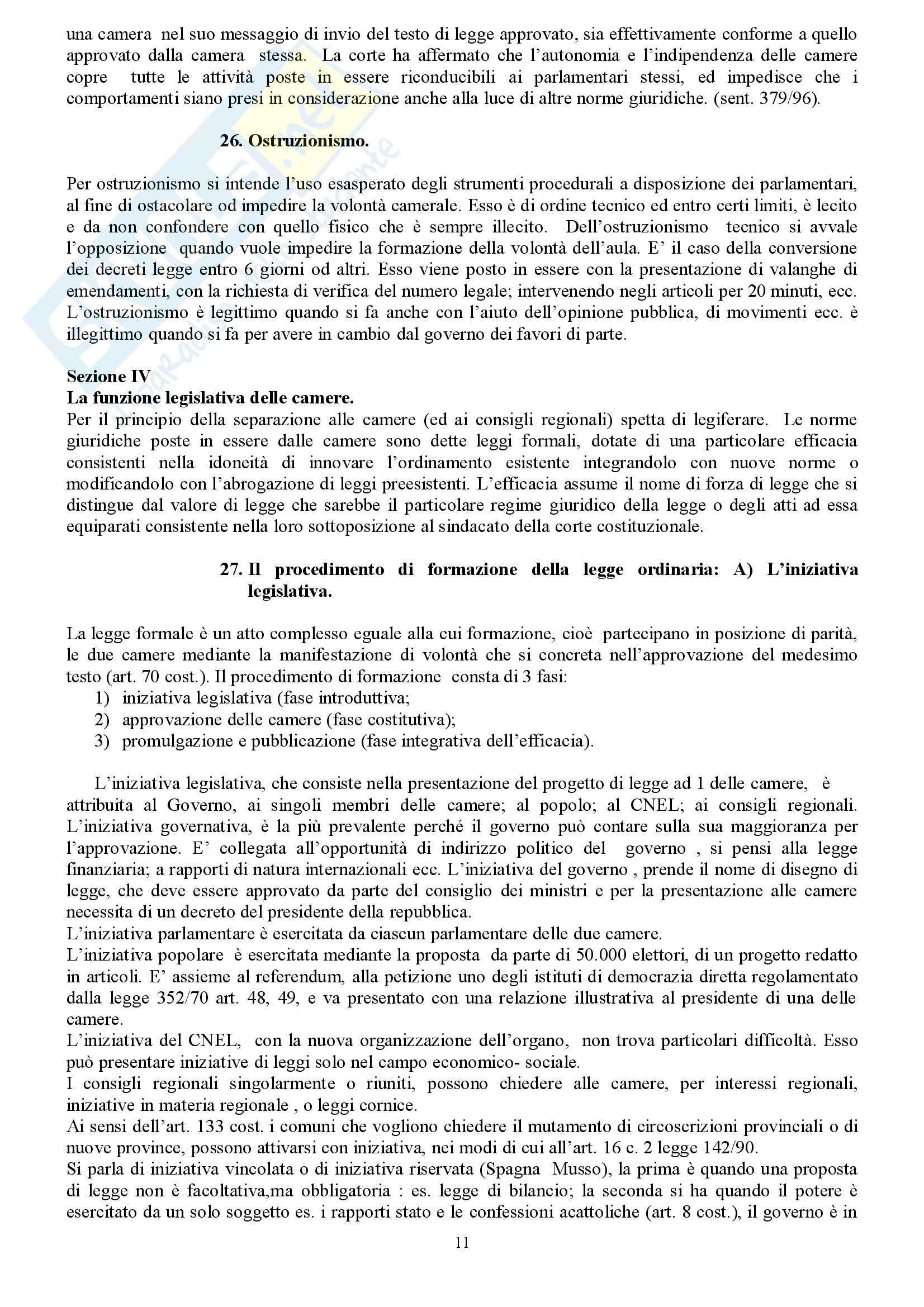 Riassunto esame Diritto Costituzionale, prof. indefinito, libro consigliato Diritto Costituzionale, Martines Pag. 11