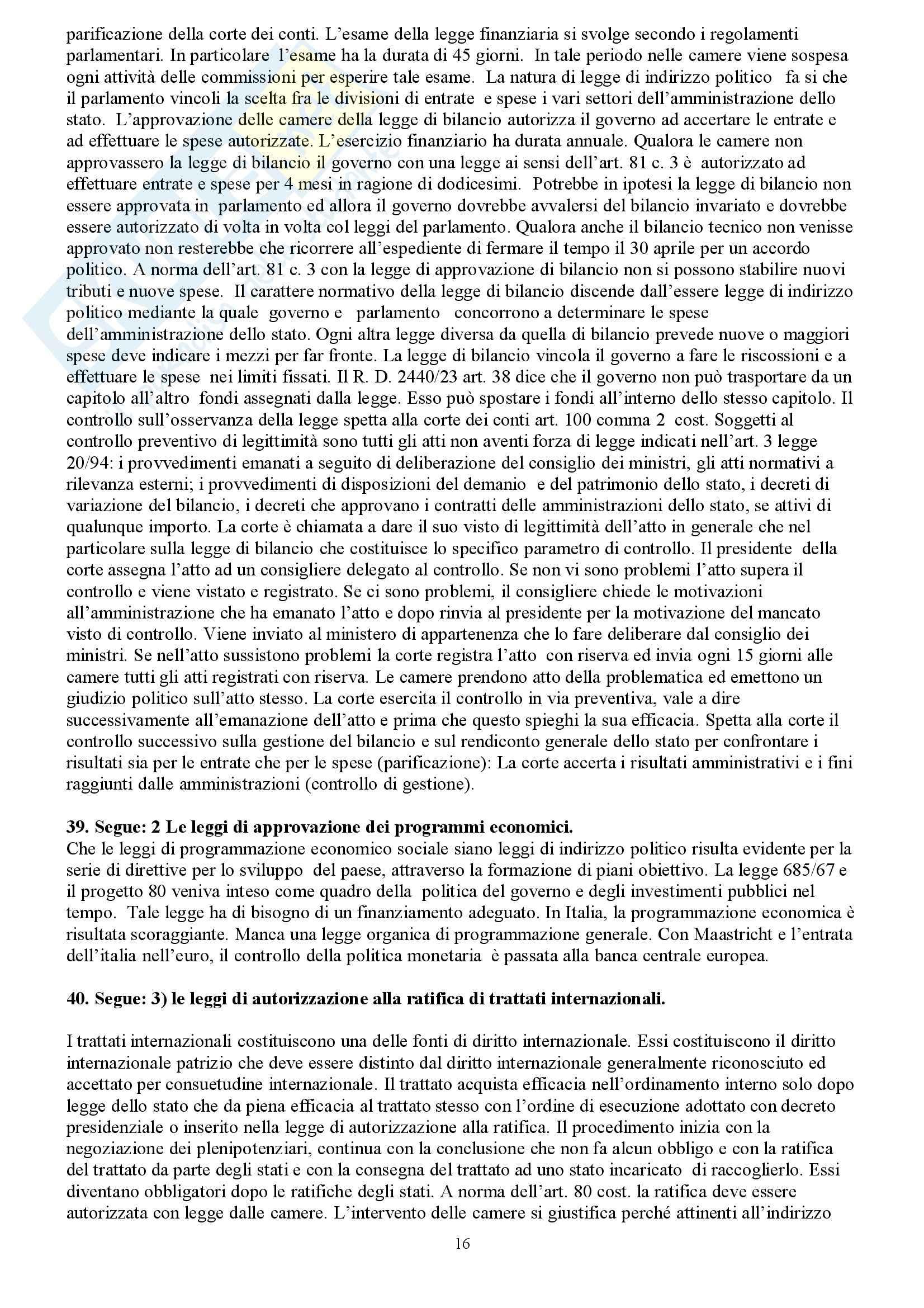Riassunto esame Diritto Costituzionale, prof. indefinito, libro consigliato Diritto Costituzionale, Martines Pag. 16