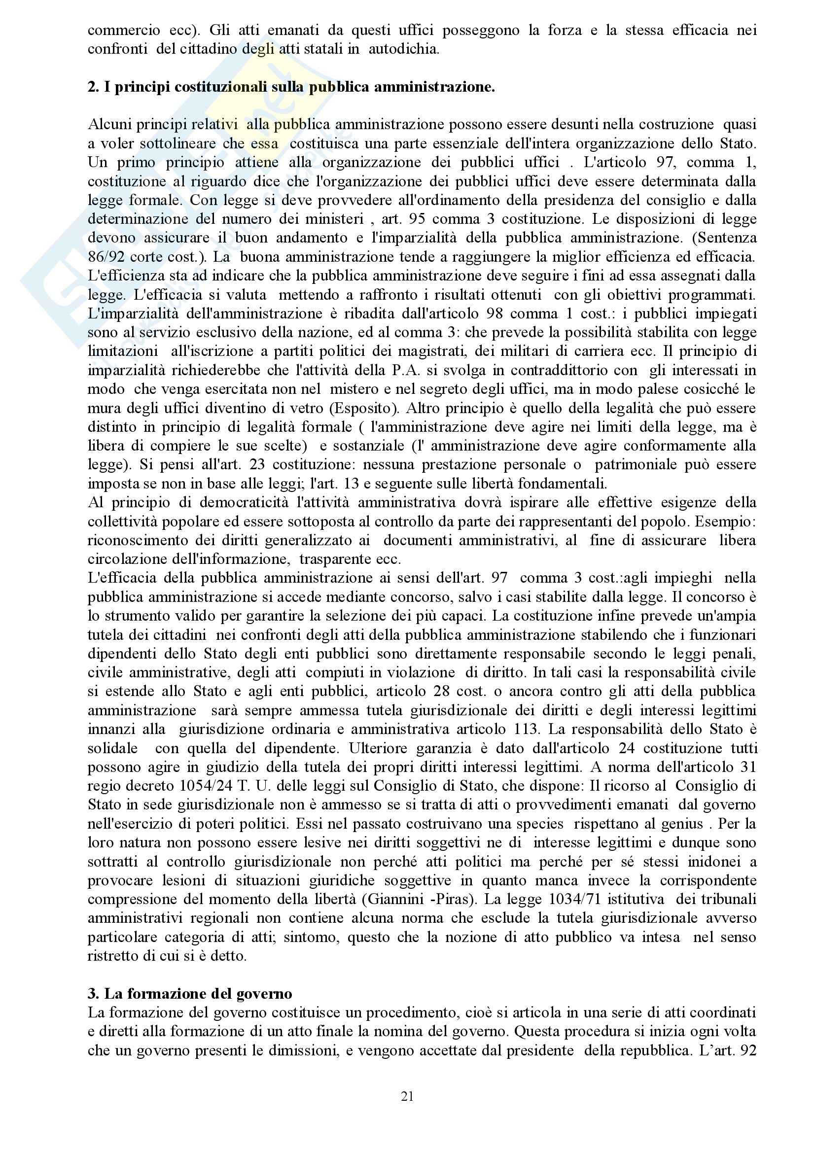Riassunto esame Diritto Costituzionale, prof. indefinito, libro consigliato Diritto Costituzionale, Martines Pag. 21