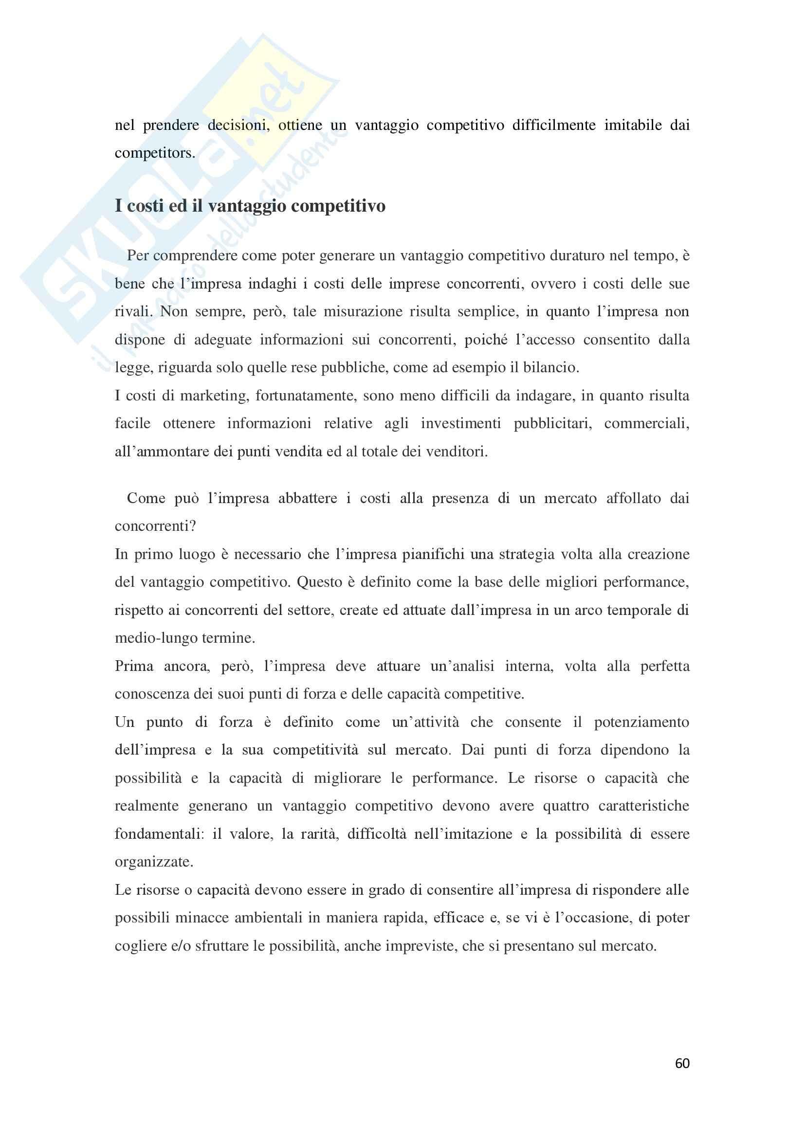 Leve e tecniche di marketing, Organizzazione e controllo aziendale Pag. 61