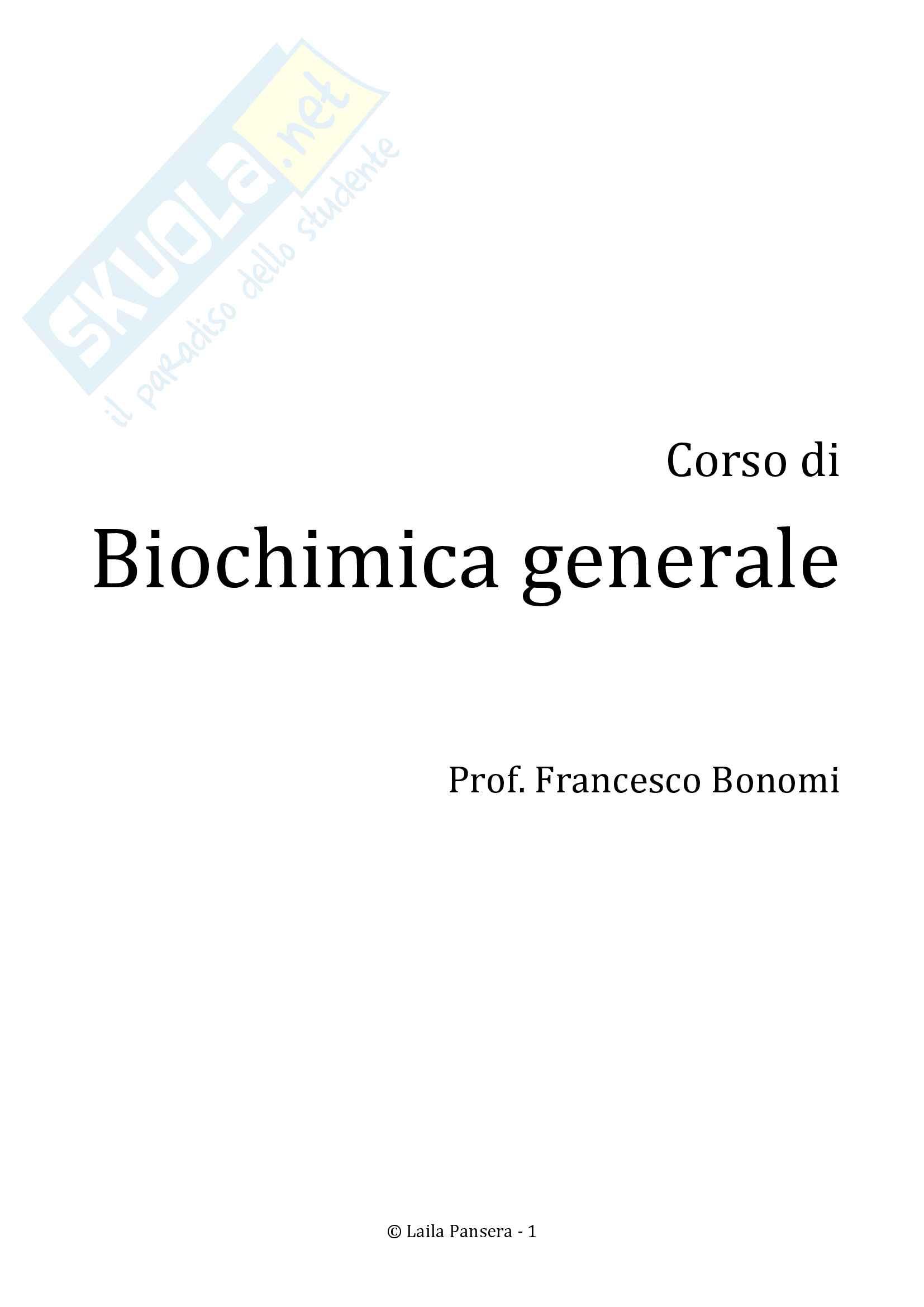 Biochimica generale