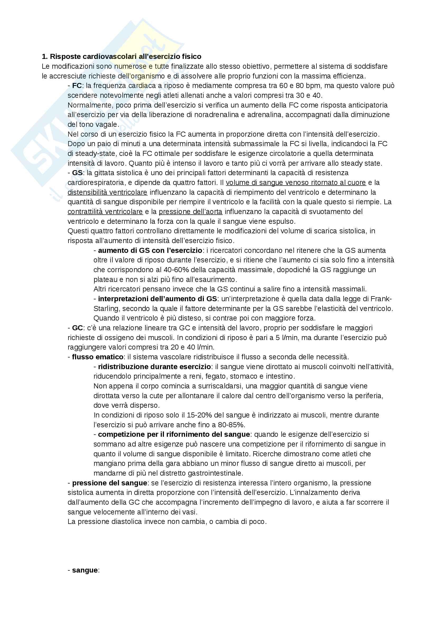 Appunti - Fisiologia sportiva