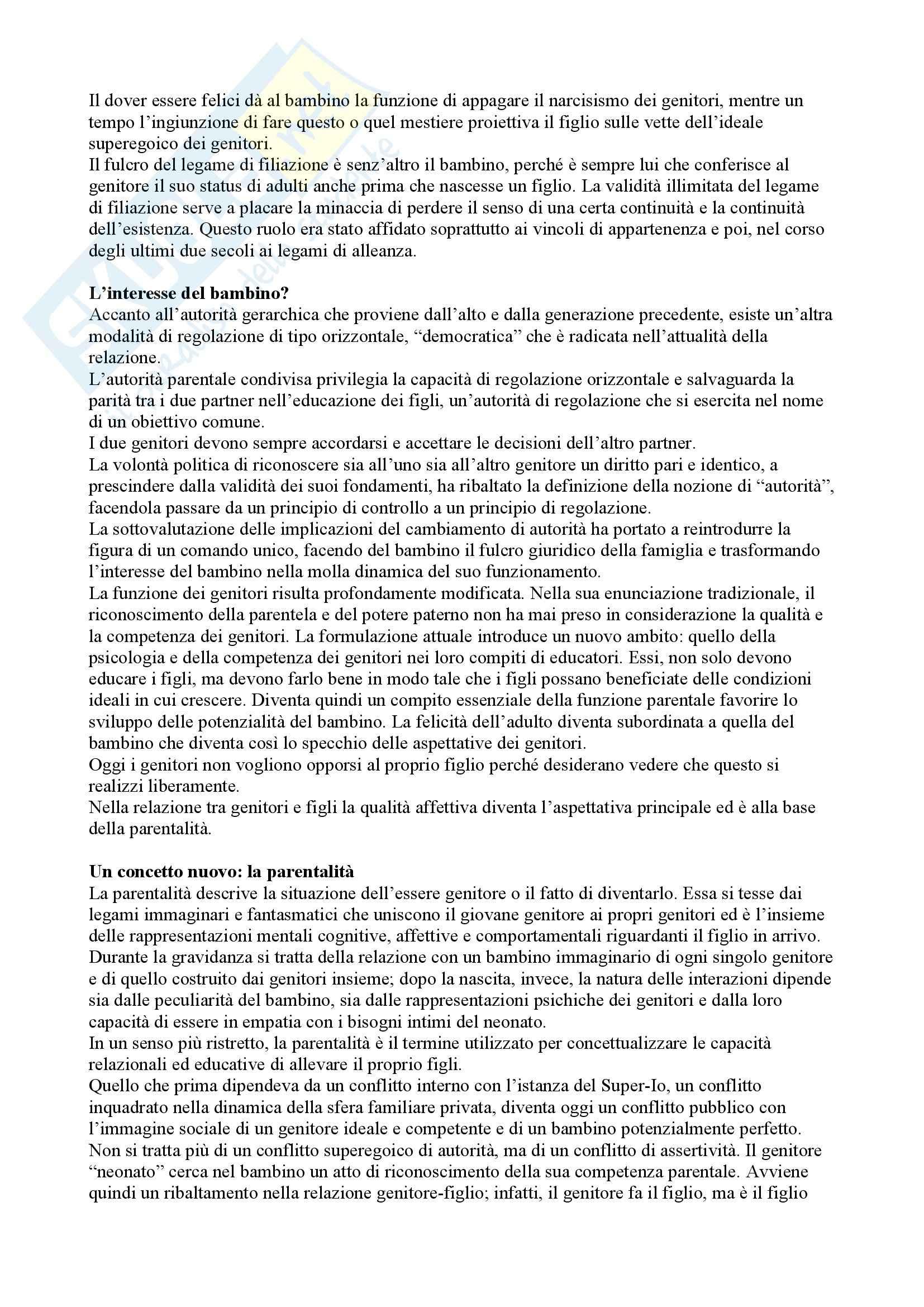Riassunto esame Pedagogia dello sviluppo e della comunicazione, prof. Aglieri, libro consigliato Il bambino sovrano, Cortina Pag. 11