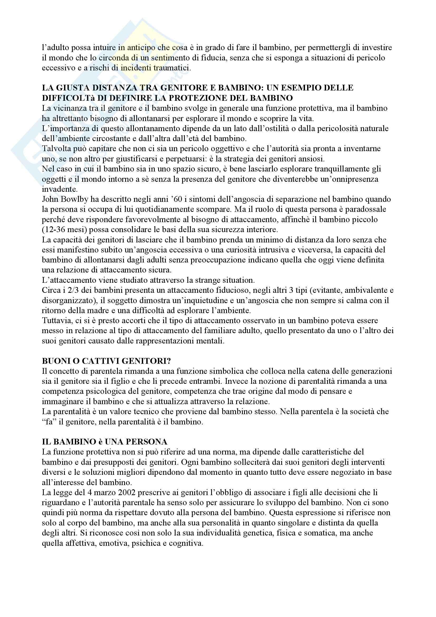 Riassunto esame Pedagogia dello sviluppo e della comunicazione, prof. Aglieri, libro consigliato Il bambino sovrano, Cortina Pag. 6