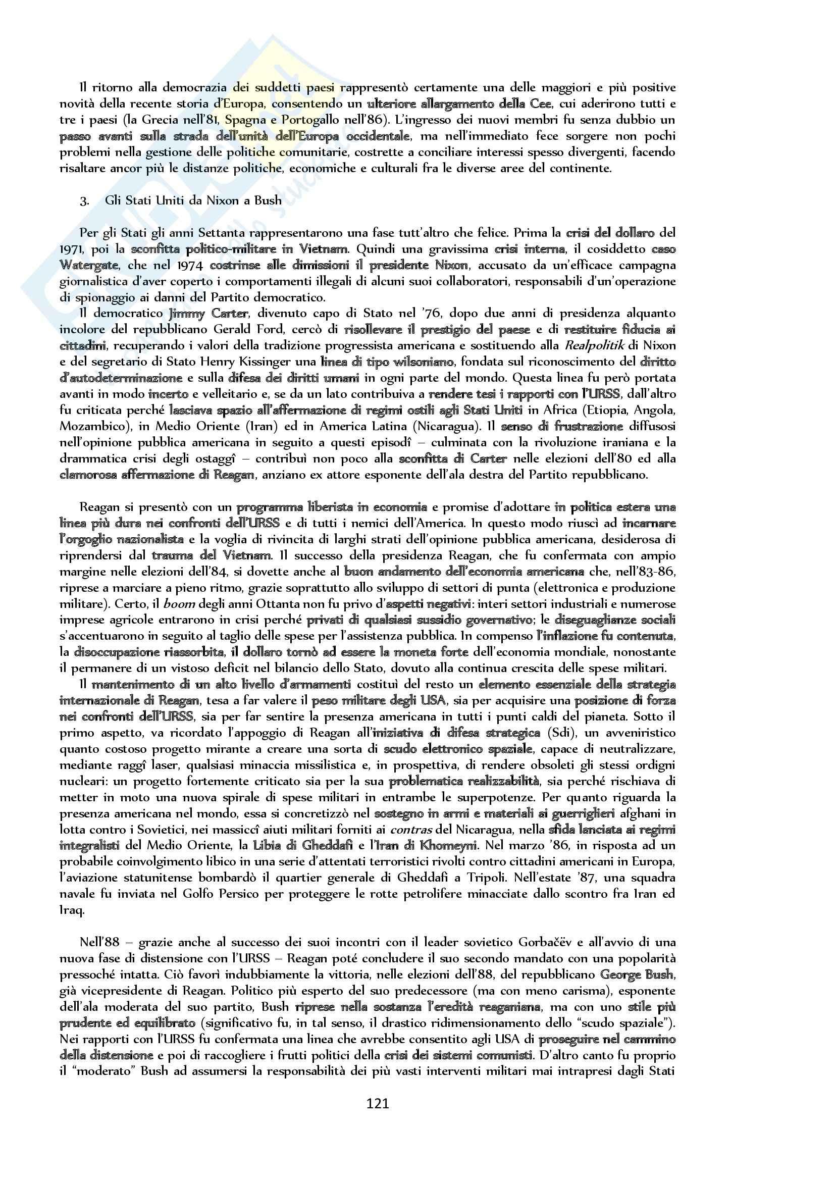 Riassunto esame Storia, prof. Bongiovanni, libro consigliato Storia contemporanea. Il Novecento, Sabbatucci, Vidotto Pag. 121