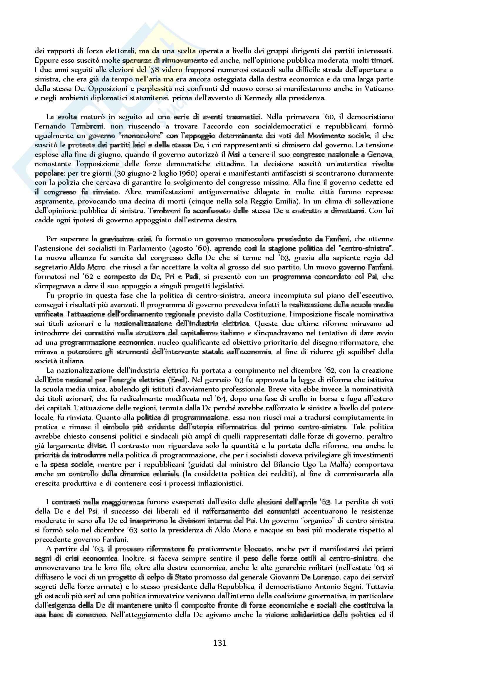 Riassunto esame Storia, prof. Bongiovanni, libro consigliato Storia contemporanea. Il Novecento, Sabbatucci, Vidotto Pag. 131