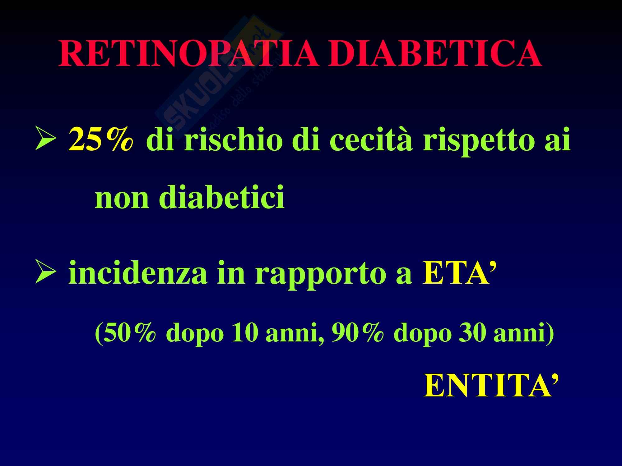 Retinopatia Diabetica e Ipertensiva