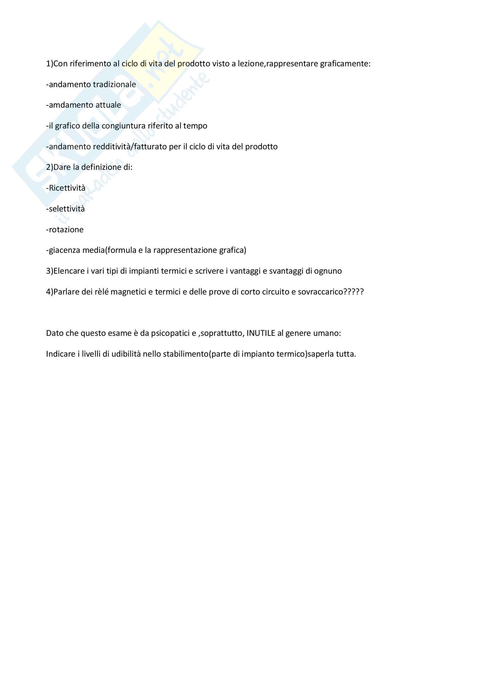 Temi d'esame e Domande svolte per l'esame di Impianti industriali e sicurezza sul lavoro Pag. 21