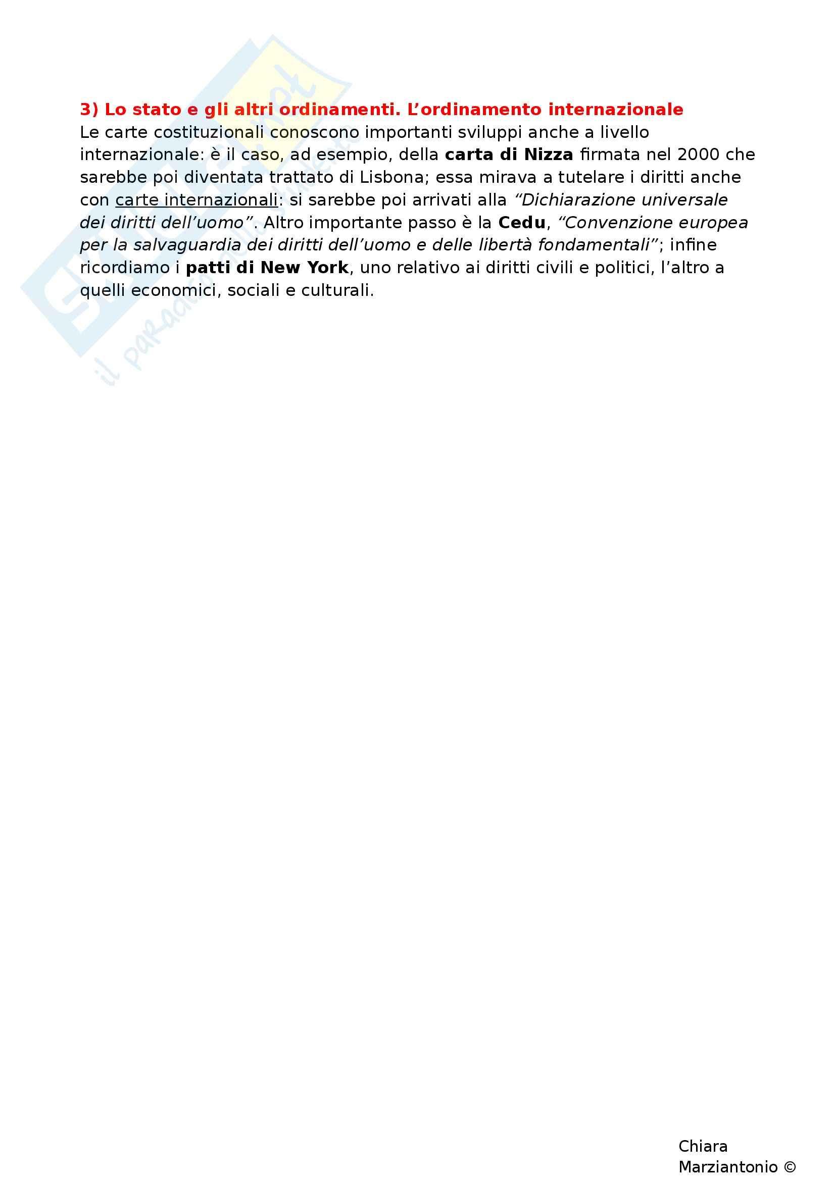 Riassunto esame Istituzioni di Diritto Pubblico, prof. Corsi, libro consigliato Corso di Diritto Pubblico, Barbera, Fusaro - cap. 3