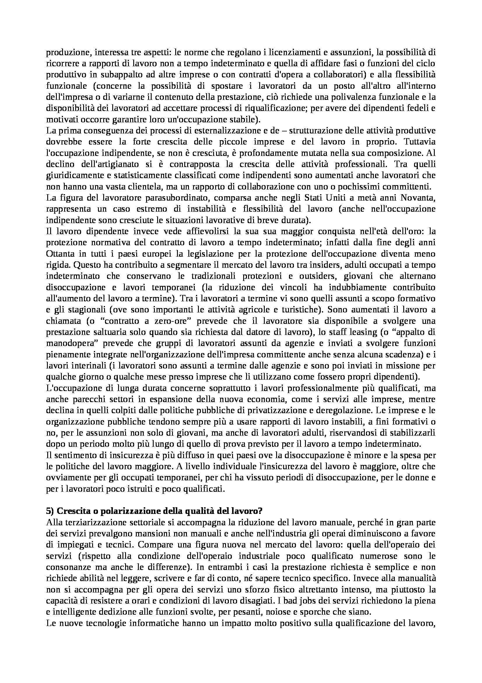 Riassunto esame Istituzioni di Sociologia, libro adottato Processi e Trasformazioni Sociali, Sciolla Pag. 11